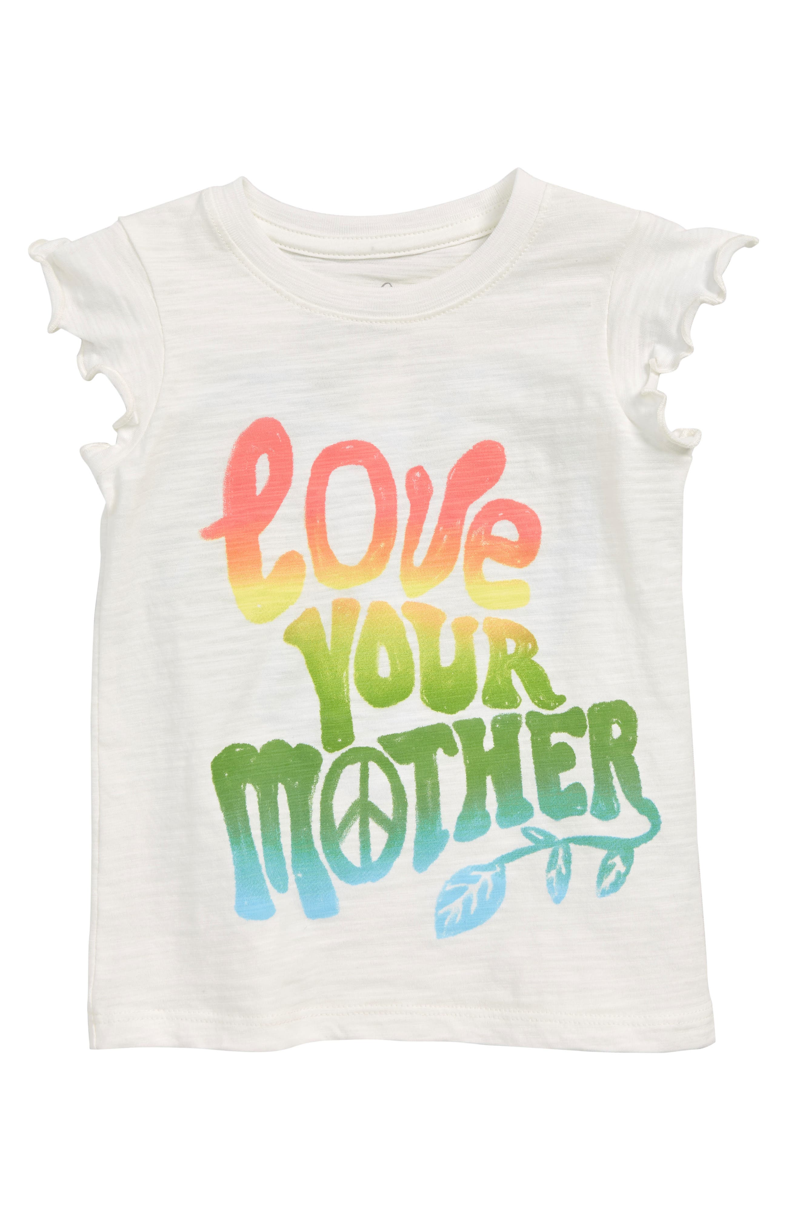 PEEK AREN'T YOU CURIOUS,                             Love Your Mother Graphic Tee,                             Main thumbnail 1, color,                             WHITE