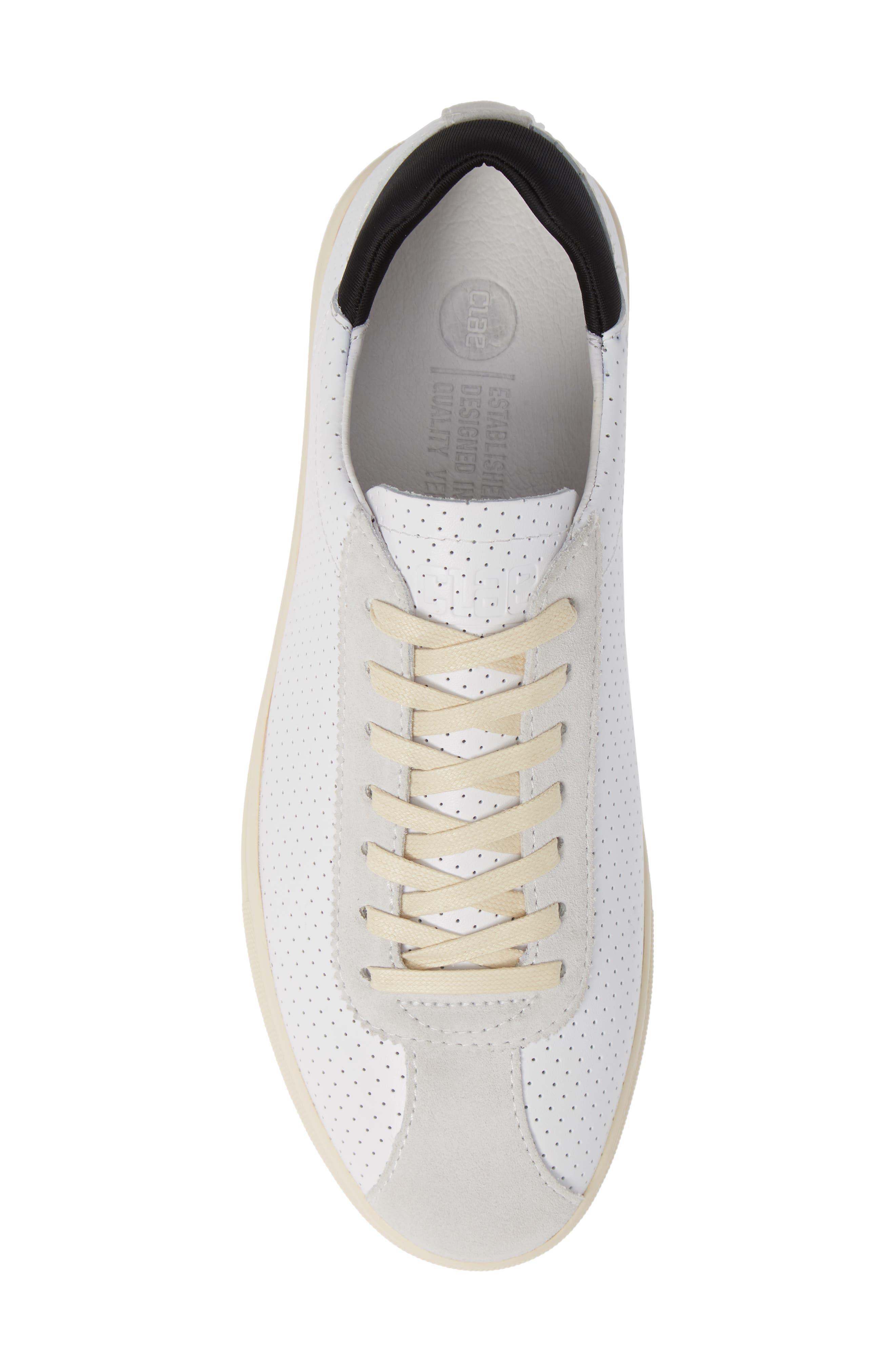 Noah Sneaker,                             Alternate thumbnail 5, color,                             WHITE LEATHER SUEDE CREAM