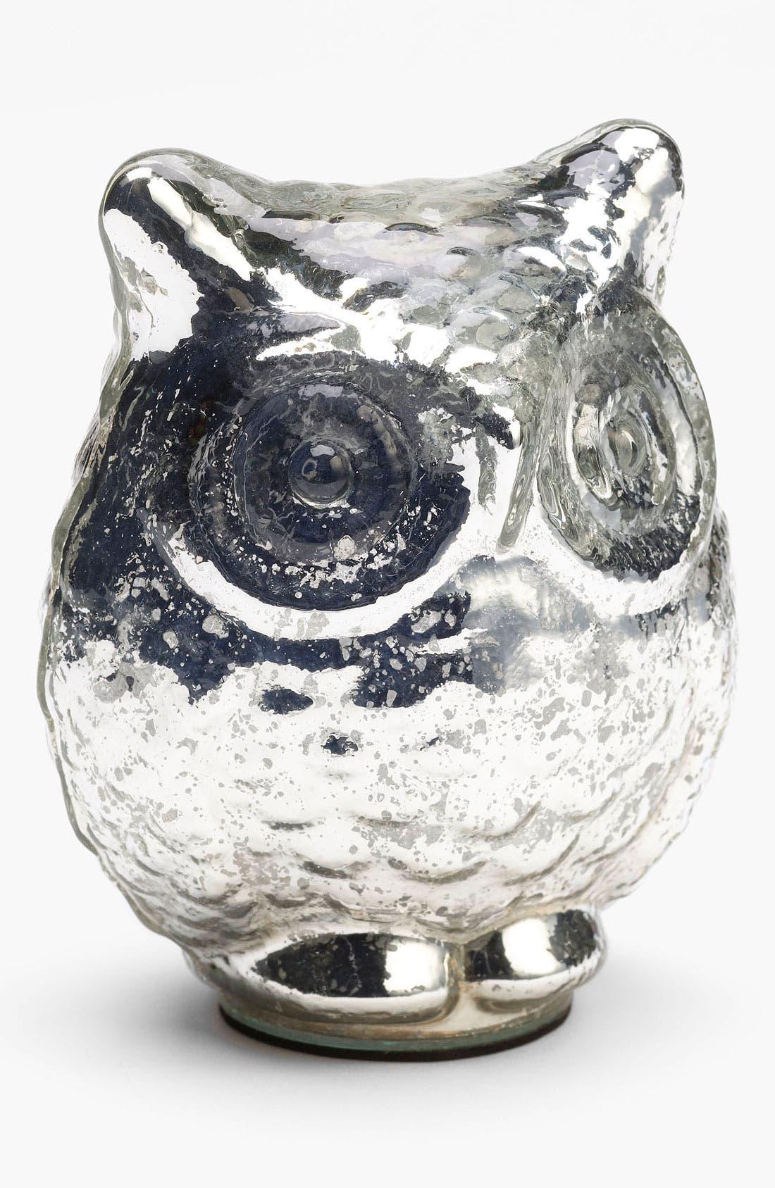 'Large' Mercury Glass Owl Decoration, Main, color, 040