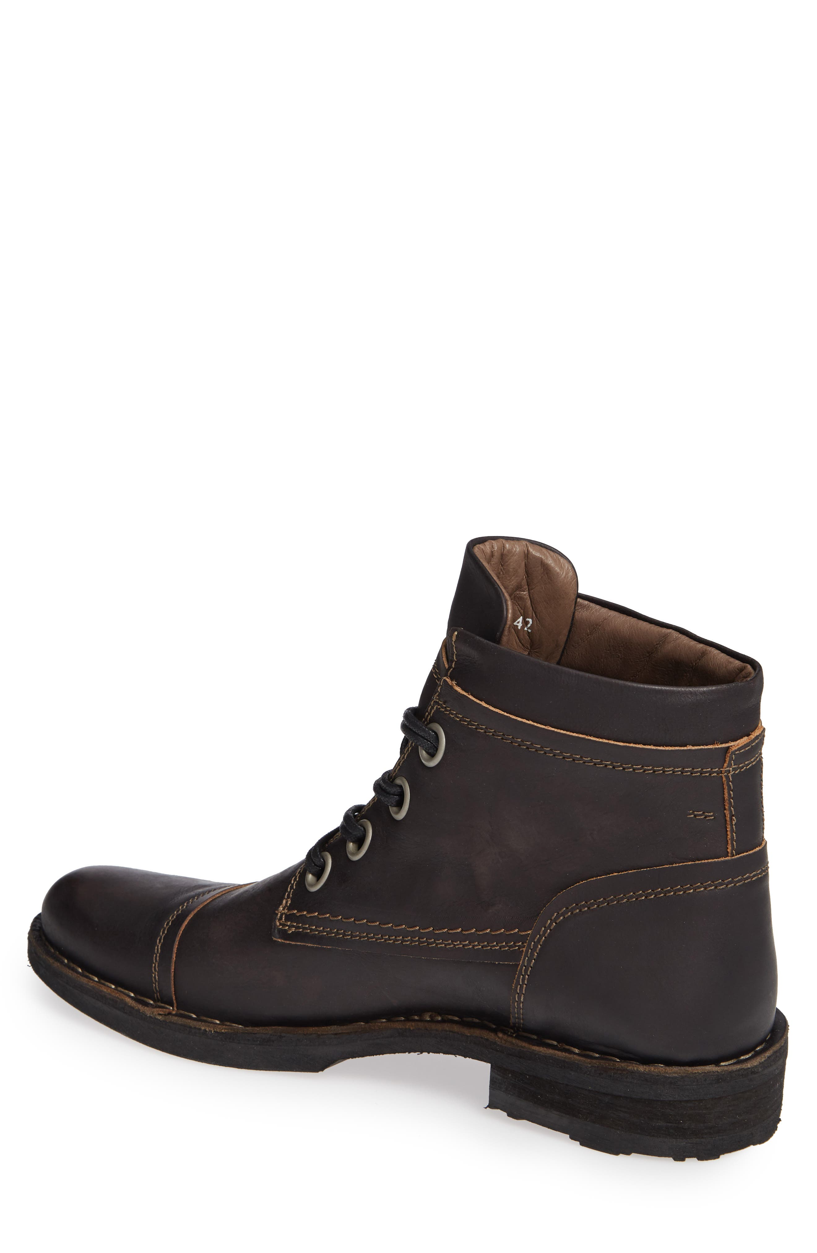 Rize Cap Toe Boot,                             Alternate thumbnail 2, color,                             BLACK SEBTA
