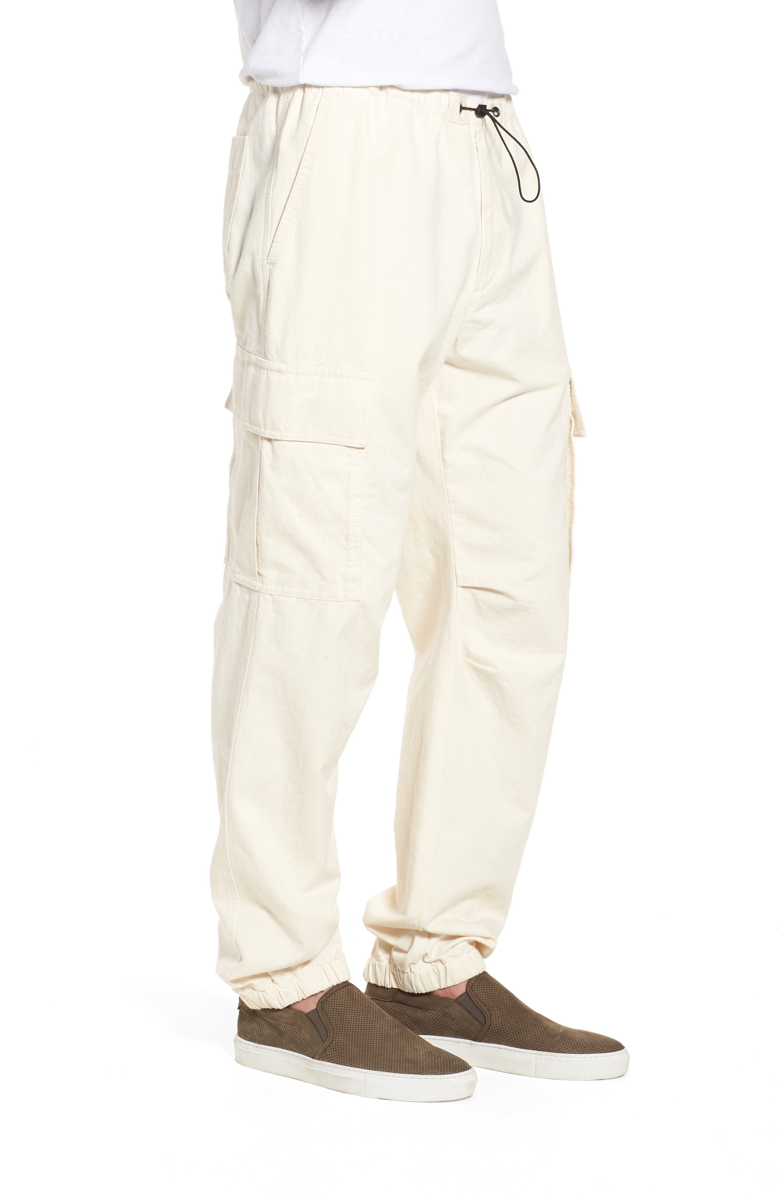 JAMES PERSE,                             Cargo Pants,                             Alternate thumbnail 3, color,                             IVORY