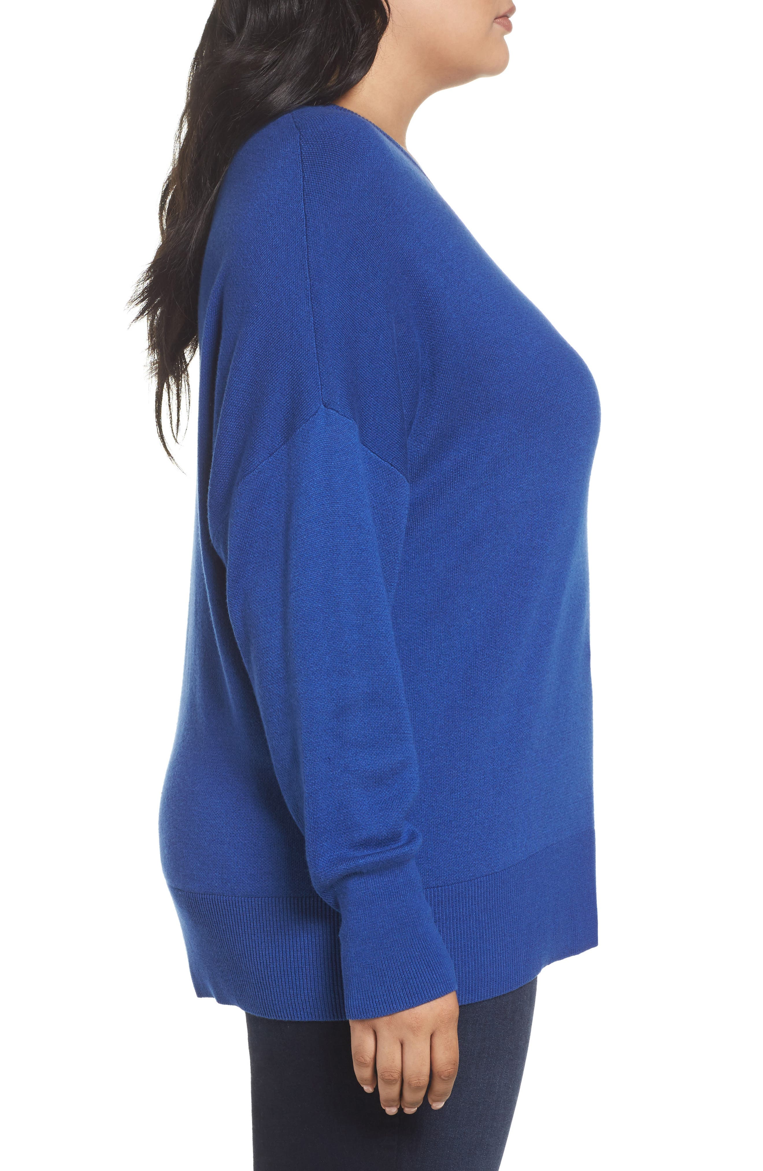 Dolman Sleeve Crewneck Sweater,                             Alternate thumbnail 14, color,