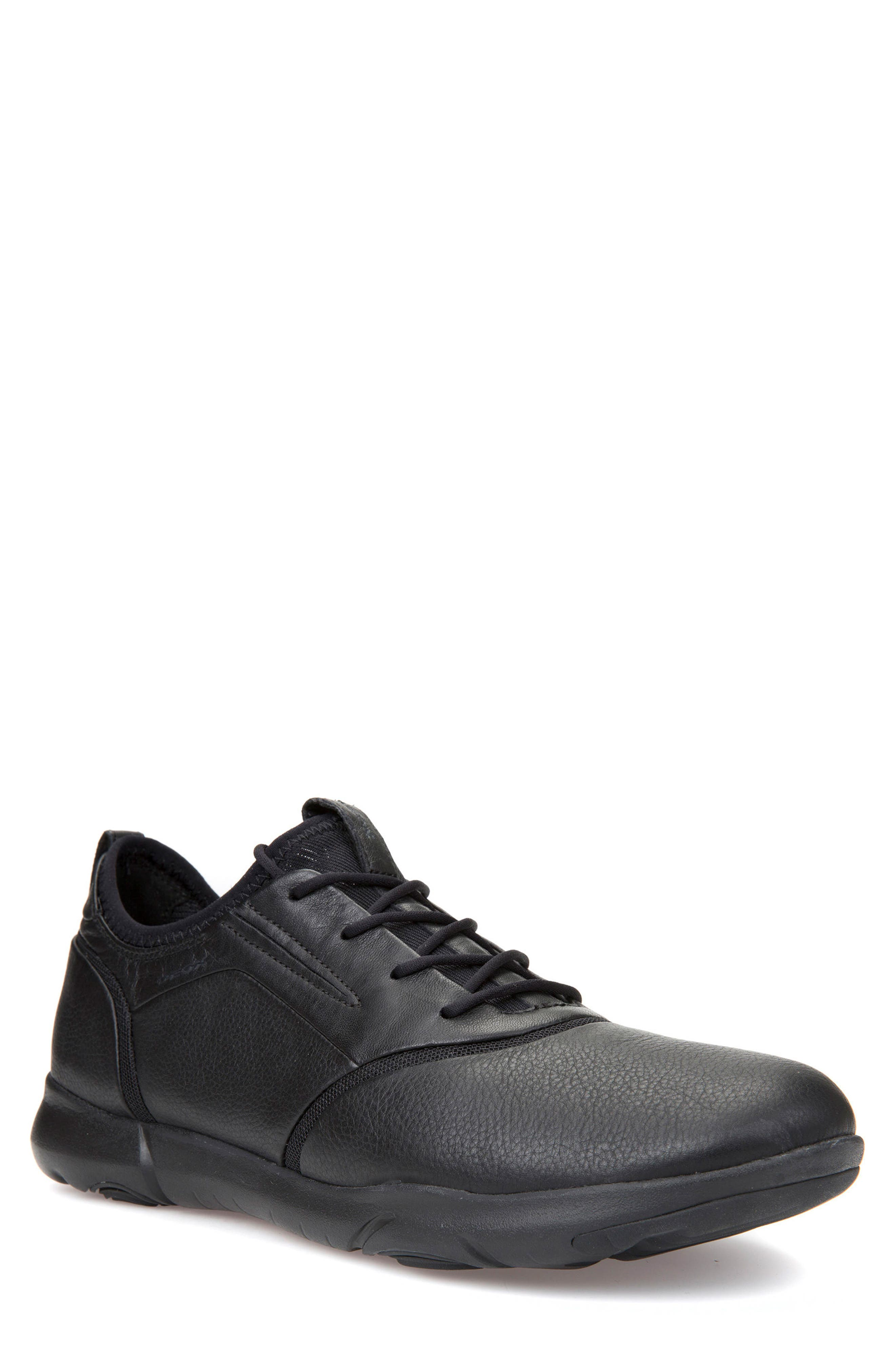 Geox Nebula S 4 Lace-Up Sneaker, Black
