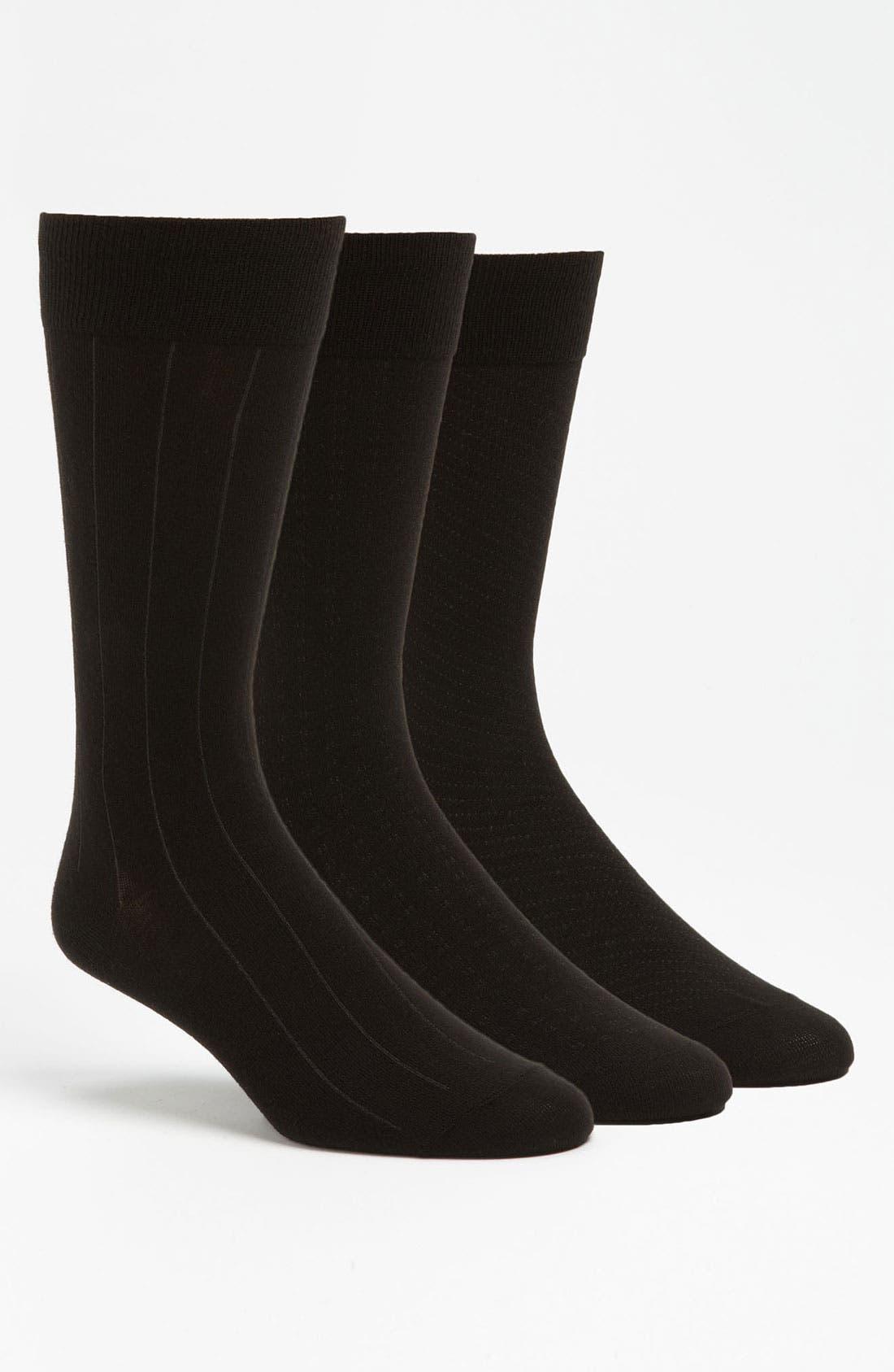 Dress Socks,                         Main,                         color, BLACK