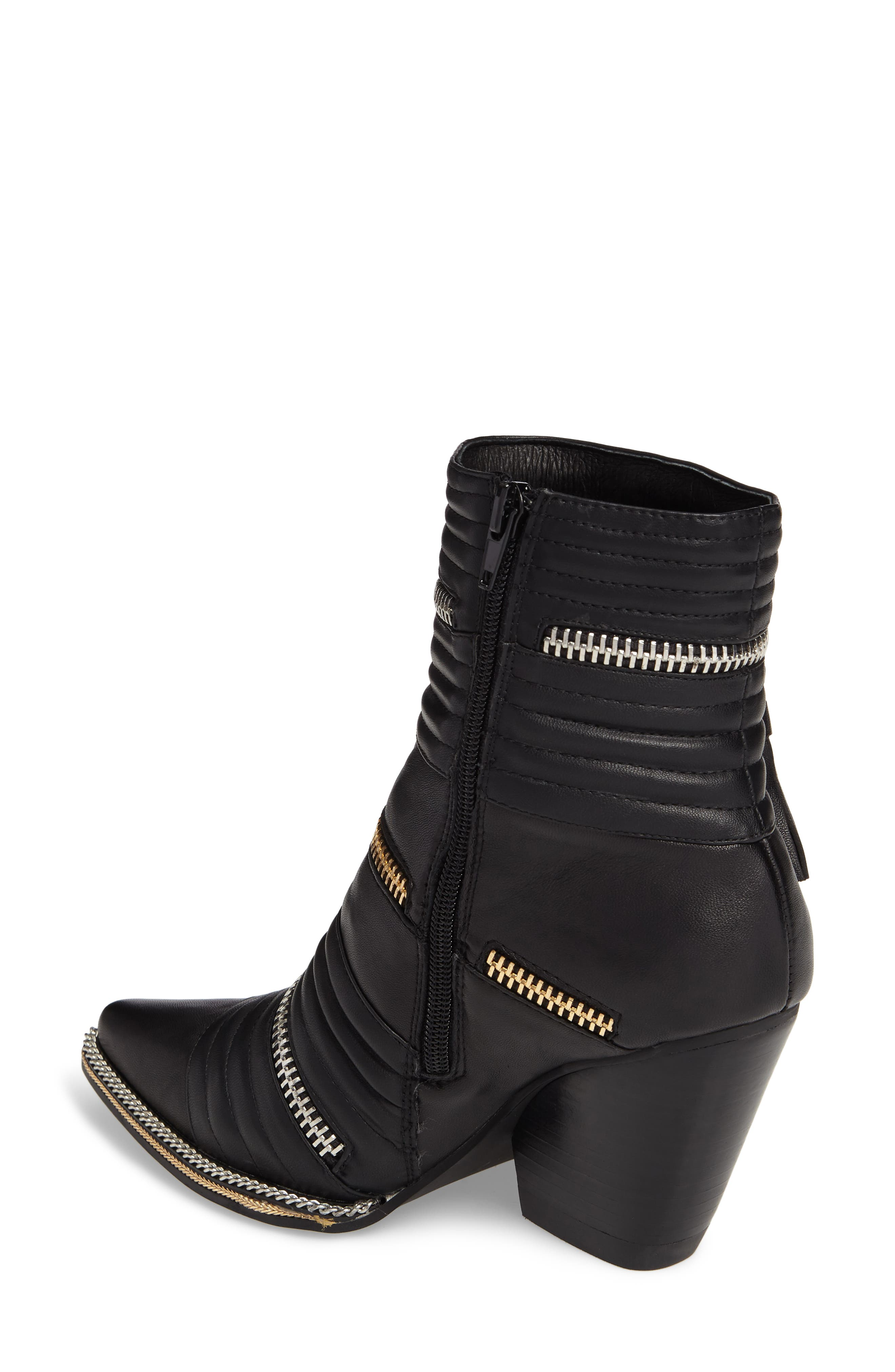 Tenzin Chain Pointy Toe Boot,                             Alternate thumbnail 2, color,                             001