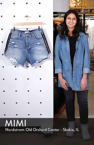 The Bombshell High Waist Distressed Denim Shorts, sales video thumbnail