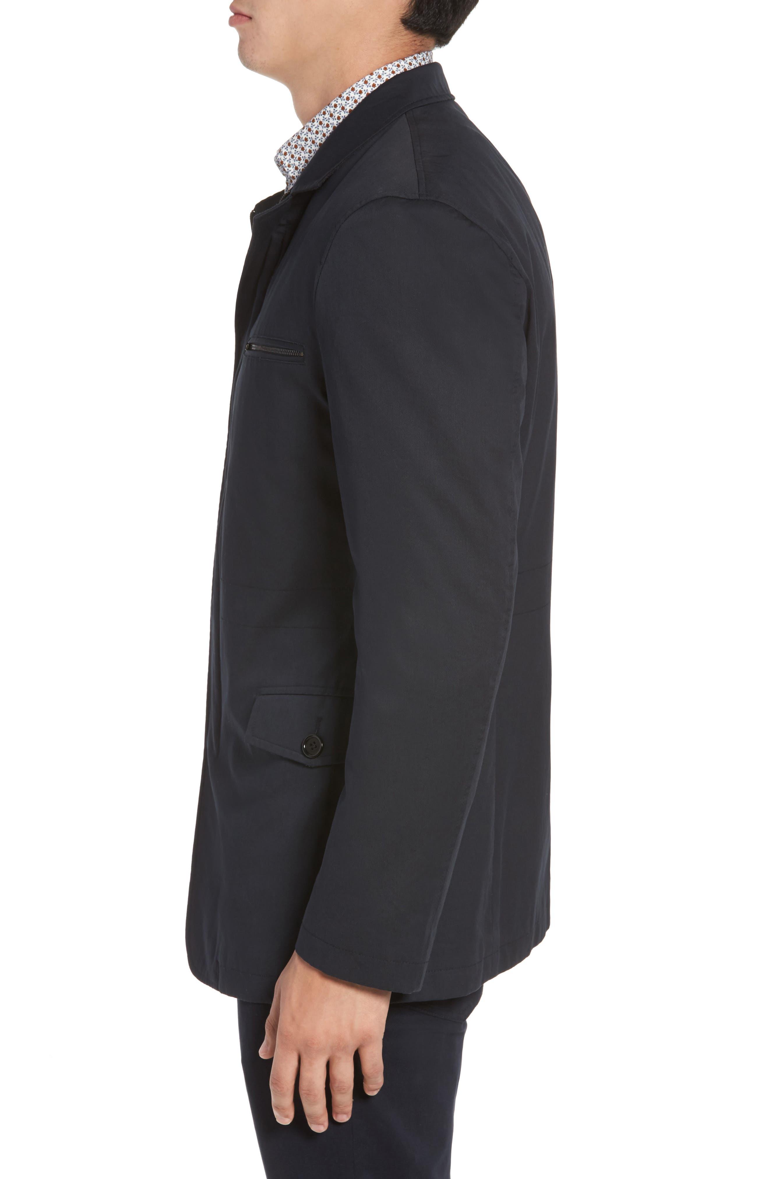 Winscombe Regular Fit Jacket,                             Alternate thumbnail 3, color,                             MIDNIGHT