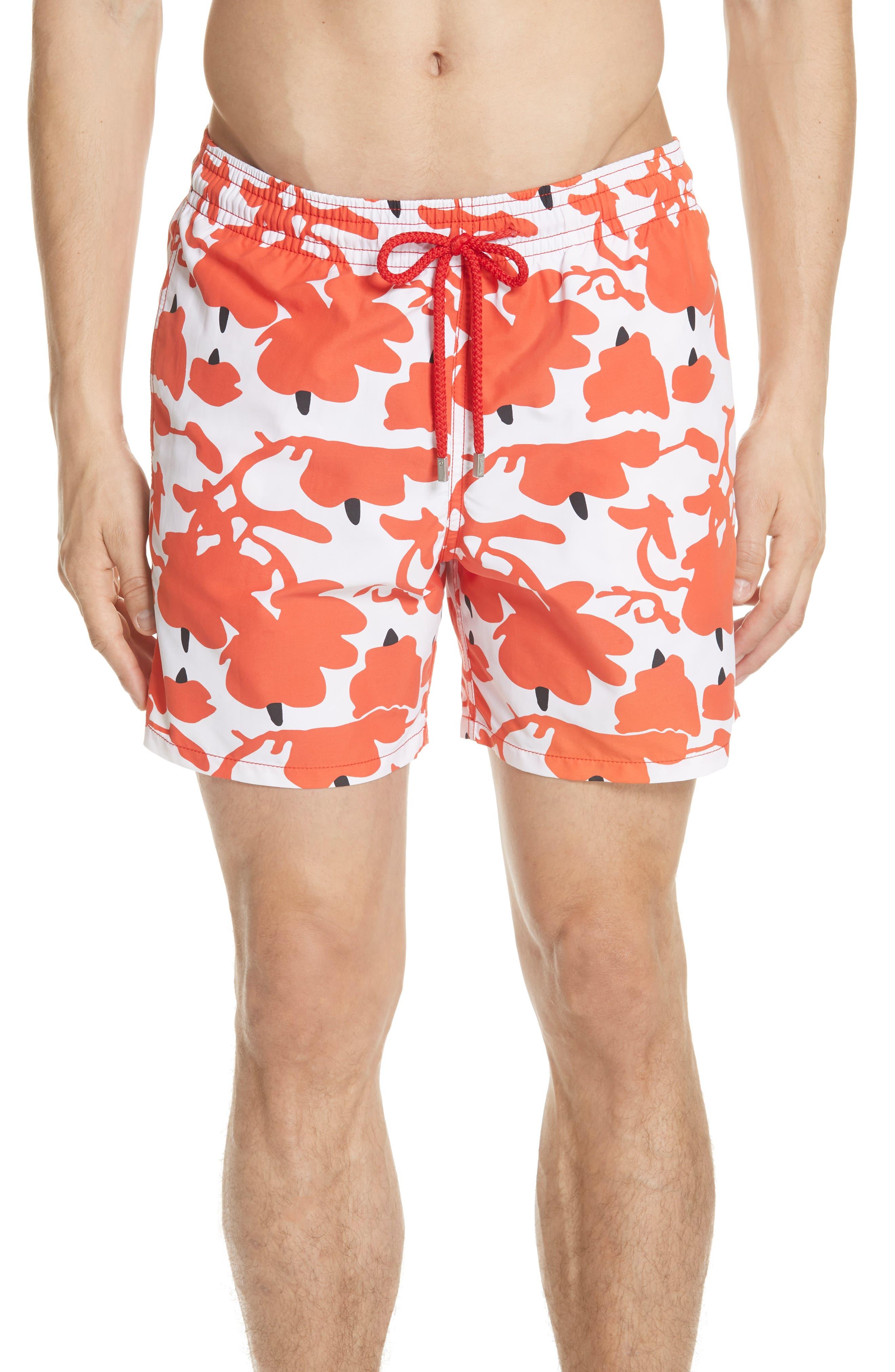 Donald Sultan Swim Trunks,                         Main,                         color, WHITE