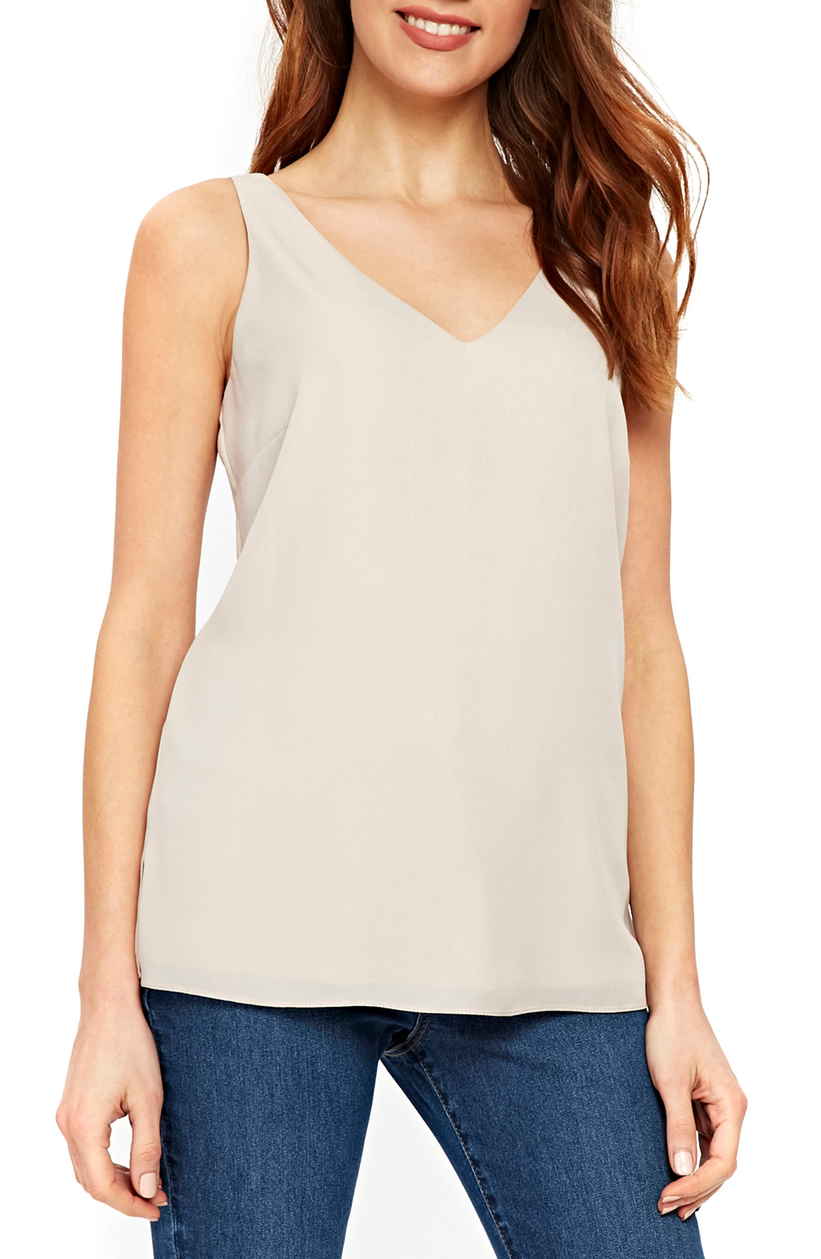 V-Neck Camisole Top,                             Main thumbnail 1, color,                             020