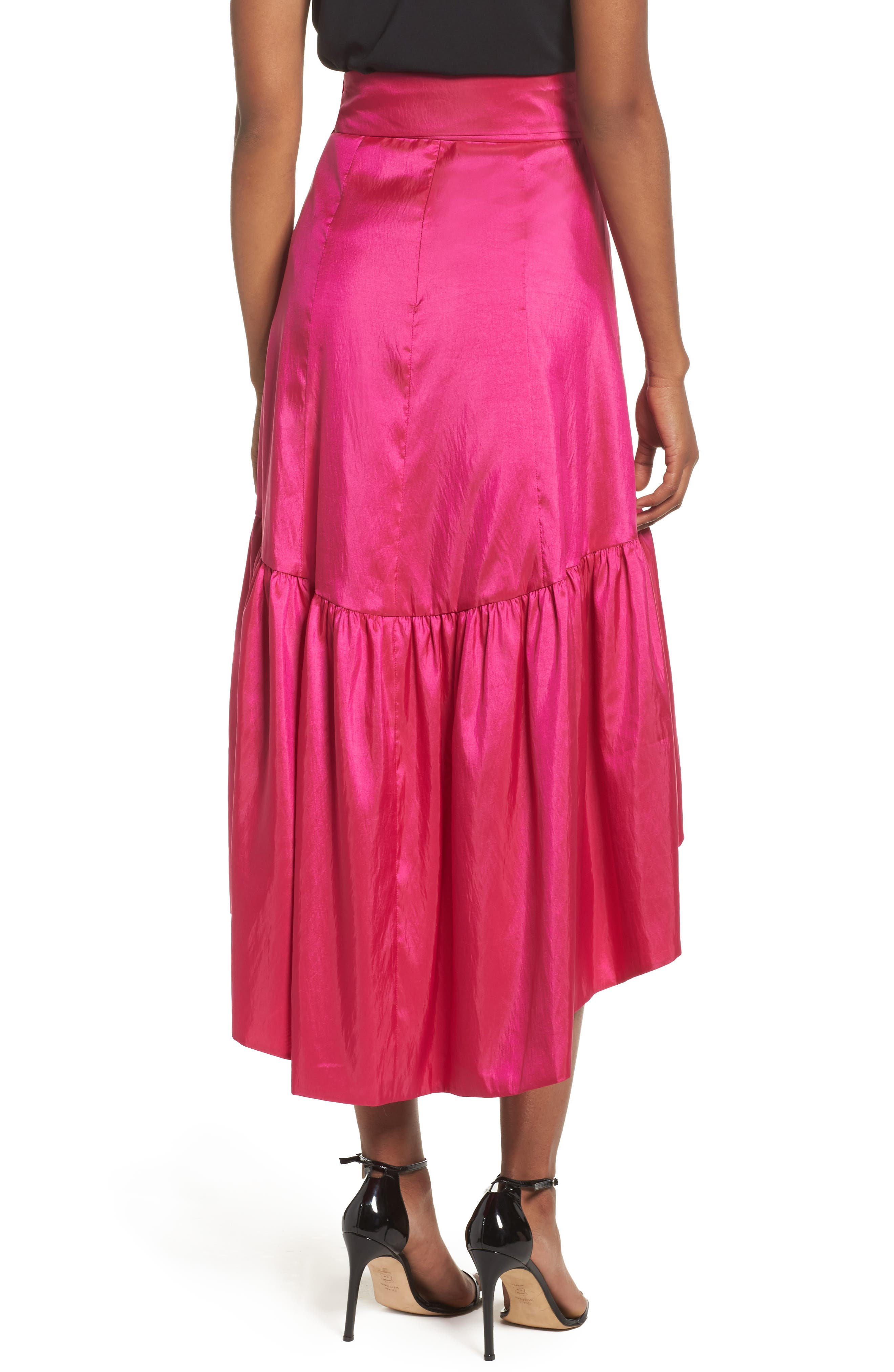 Ruffled Faux Wrap Skirt,                             Alternate thumbnail 2, color,                             678