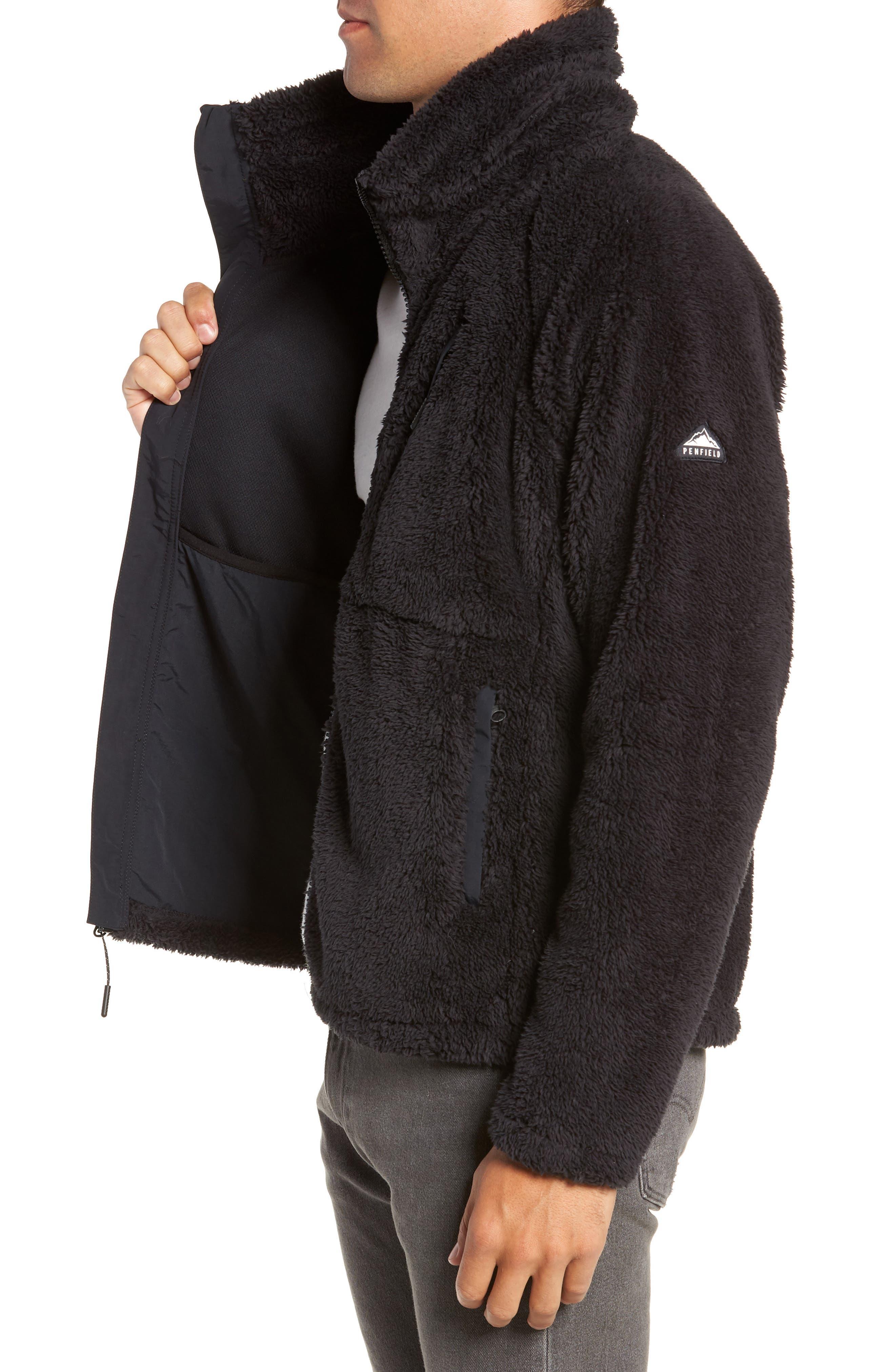 Breakheart Zip Fleece Jacket,                             Alternate thumbnail 3, color,                             001