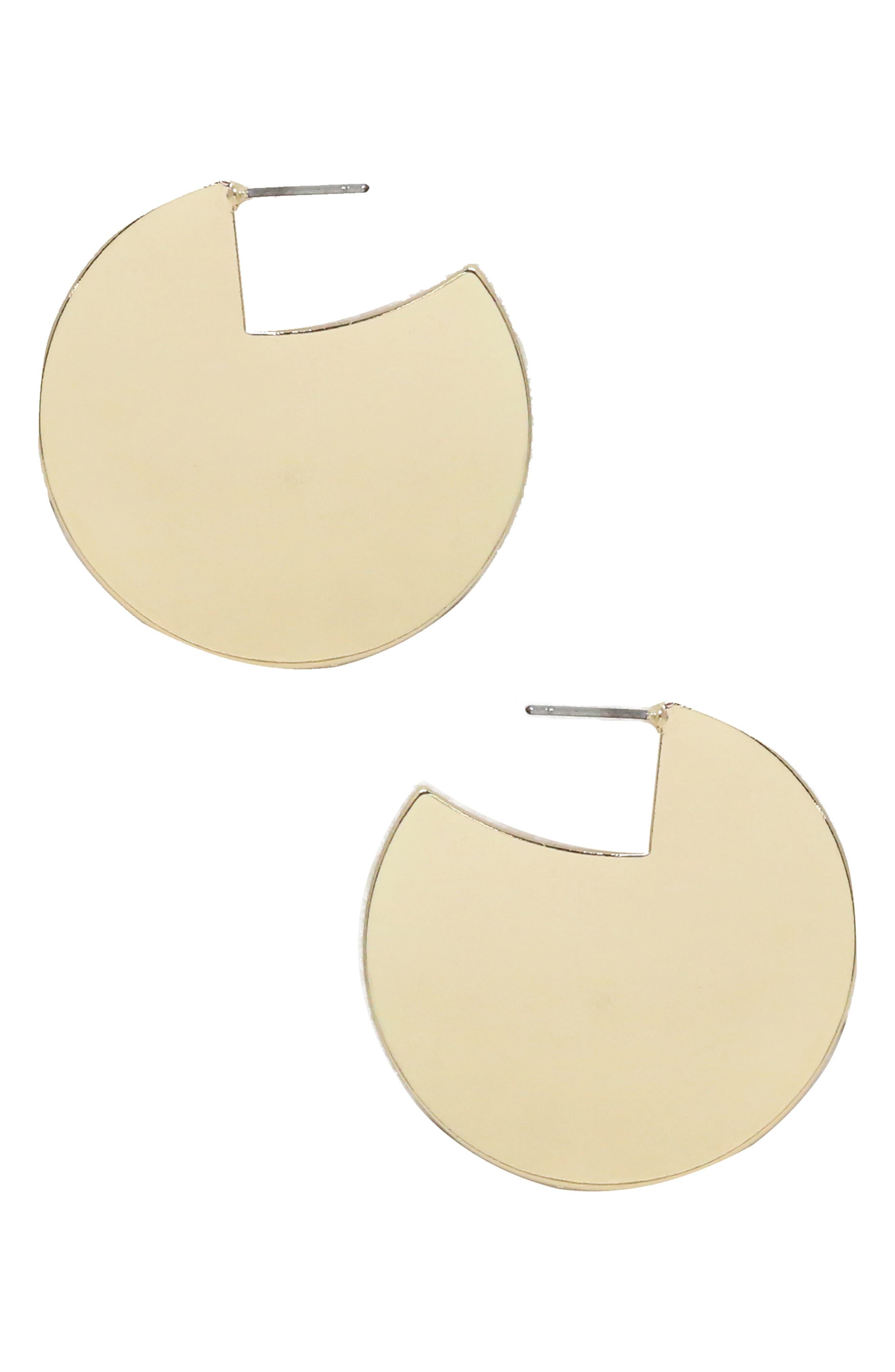 60s -70s Jewelry – Necklaces, Earrings, Rings, Bracelets Womens Ettika Mod Disc Earrings $35.00 AT vintagedancer.com