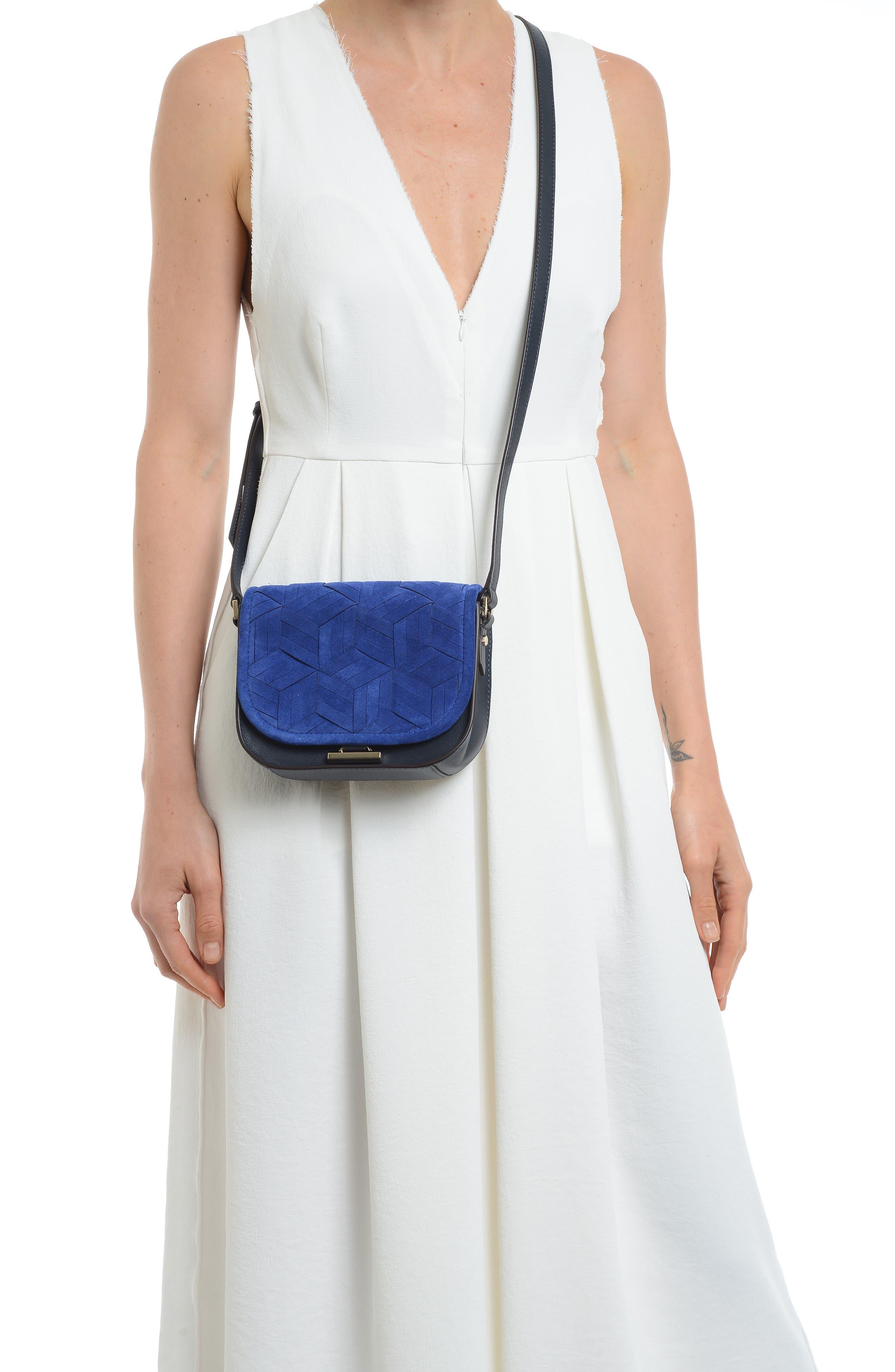 Mini Summit Suede & Leather Crossbody Bag,                             Alternate thumbnail 2, color,                             400