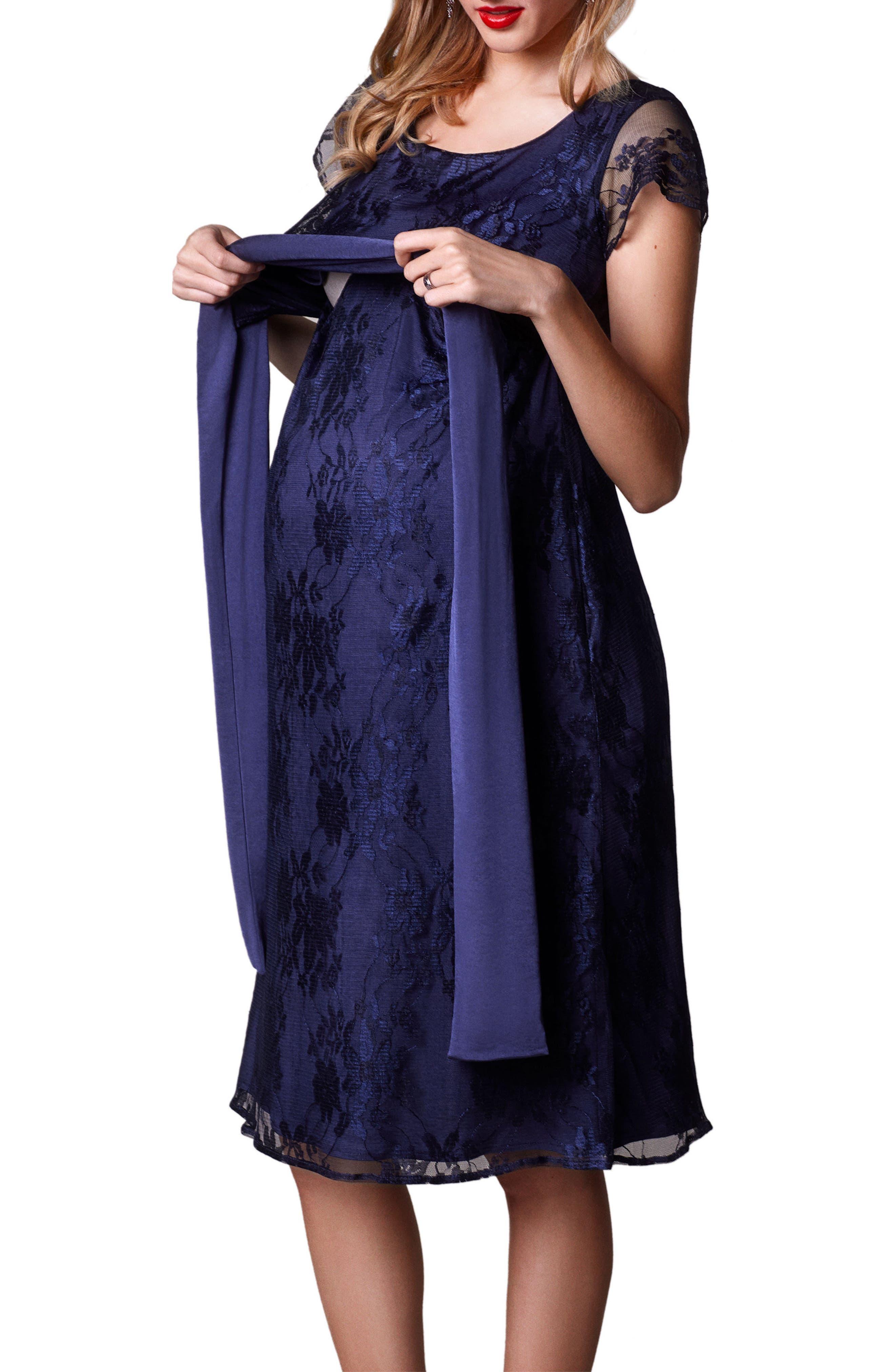 April Maternity/Nursing Dress,                             Alternate thumbnail 3, color,                             ARABIAN NIGHTS