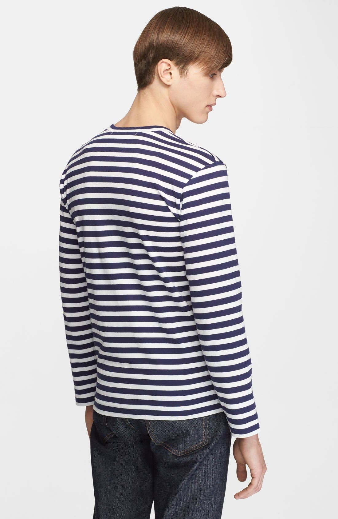Stripe T-Shirt,                             Alternate thumbnail 3, color,                             410