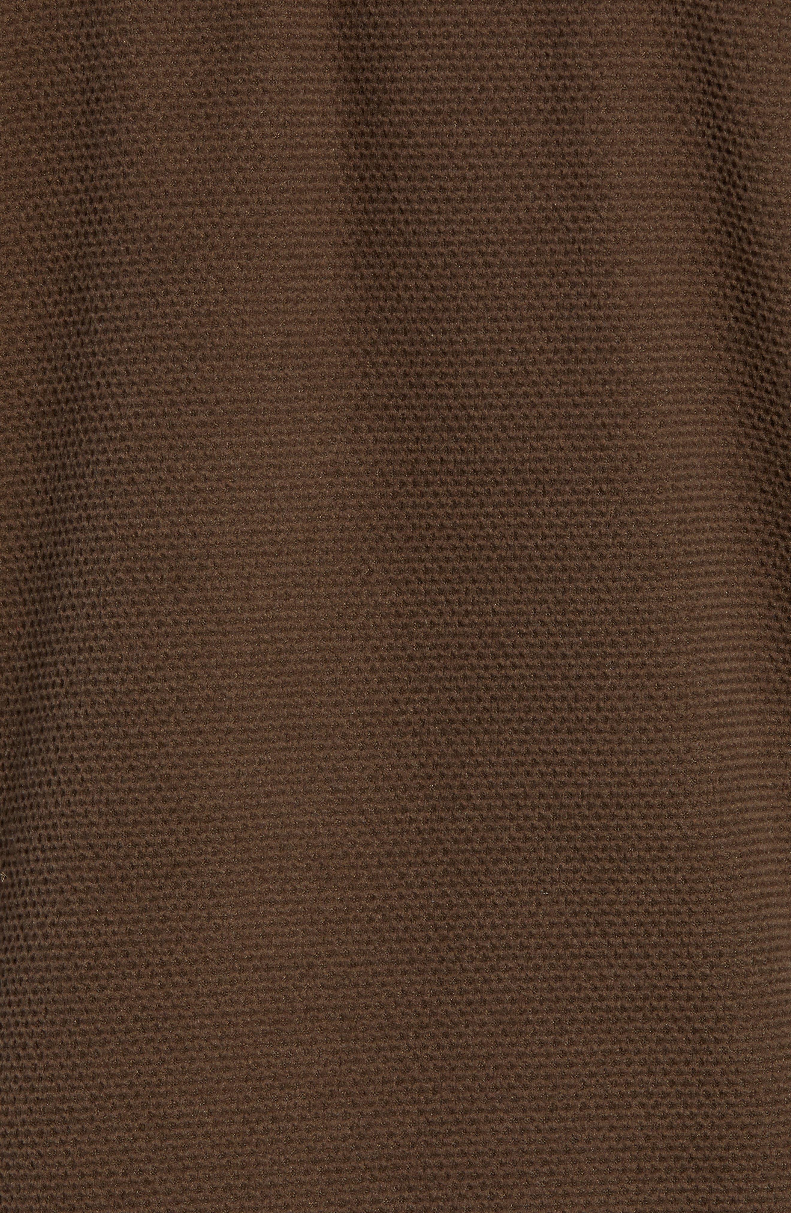 Texture Cap Rock Quarter Zip Fleece Jacket,                             Alternate thumbnail 5, color,                             BRACKEN BROWN