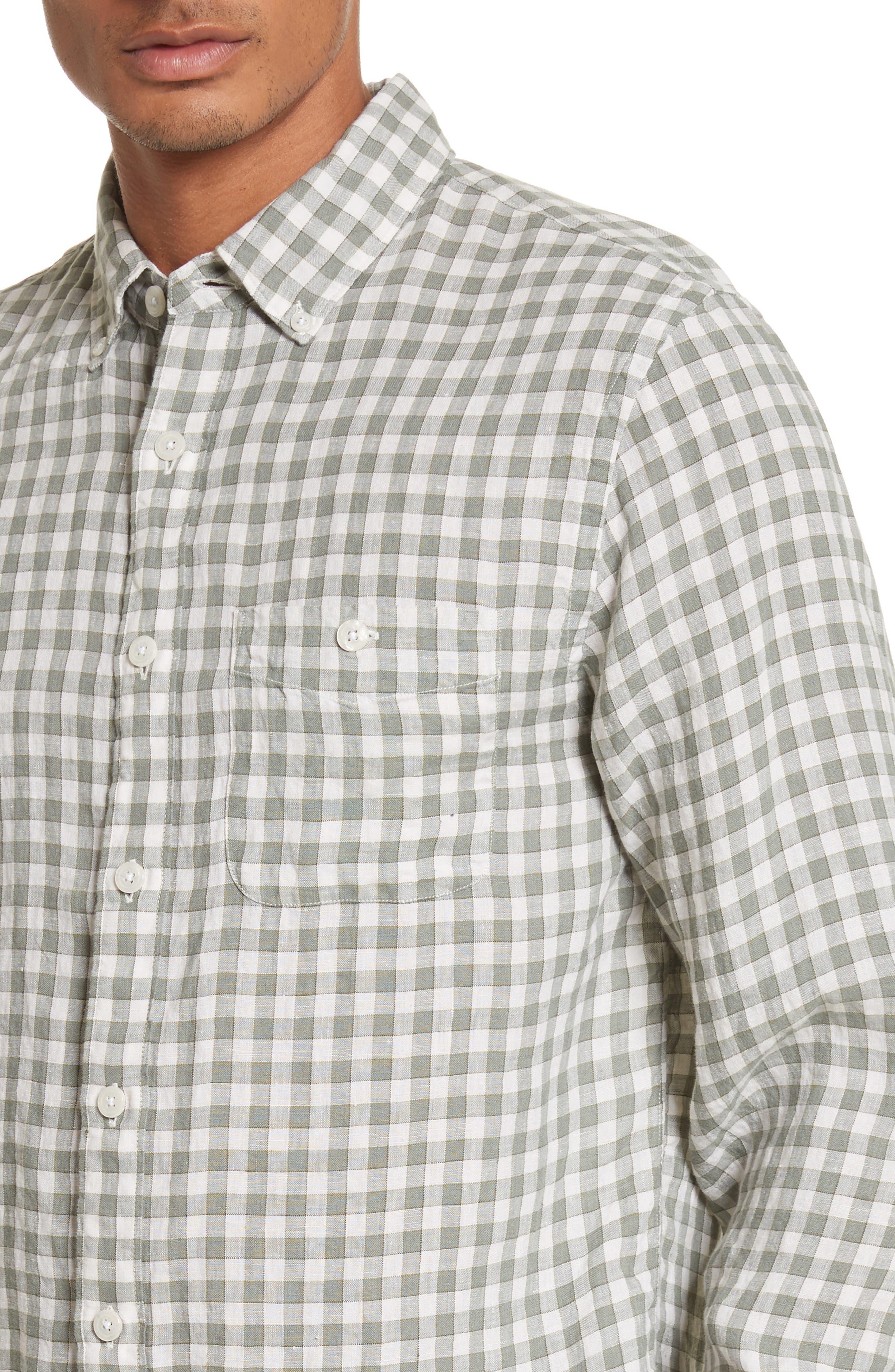 Check Woven Shirt,                             Alternate thumbnail 4, color,                             300