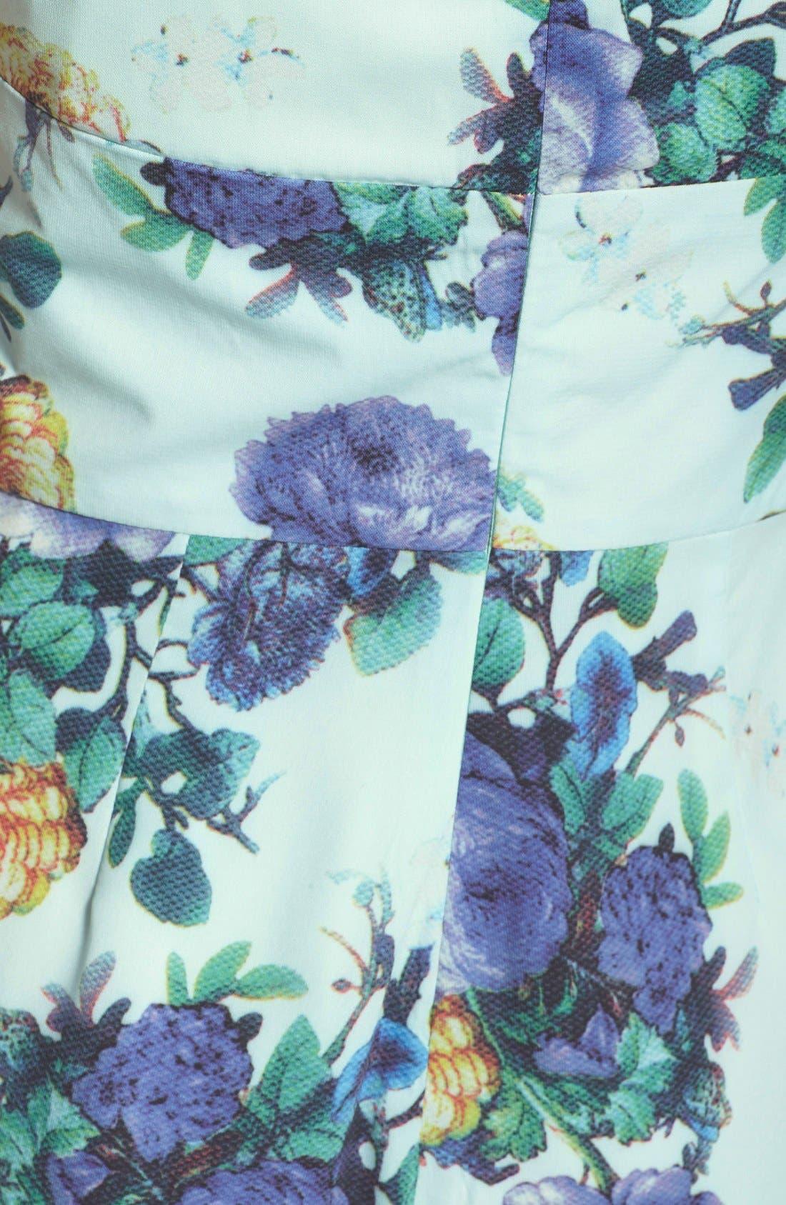 DARLING,                             'Gabrielle' Floral Print Romper,                             Alternate thumbnail 4, color,                             480