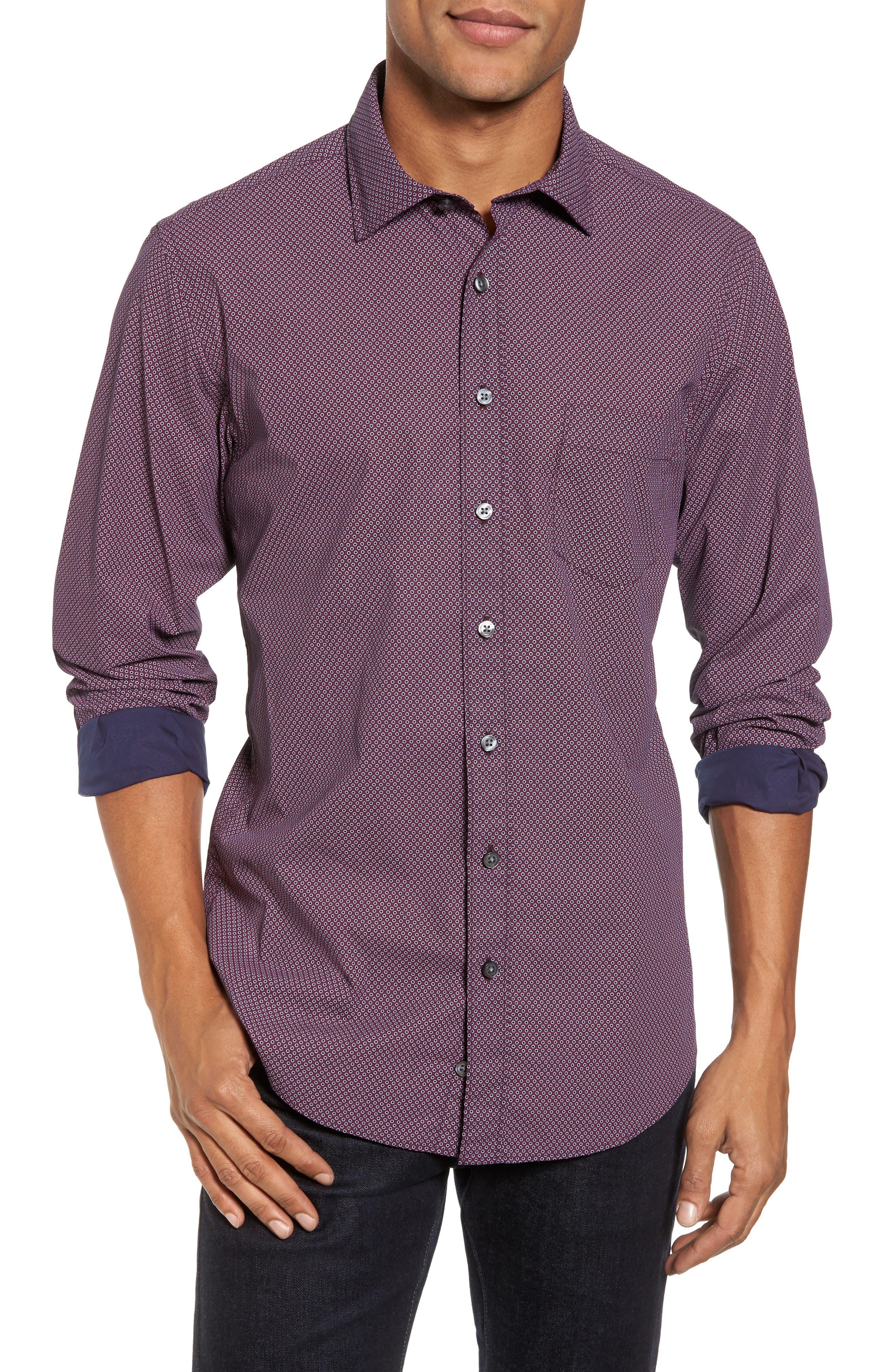 Ingleton Regular Fit Dot Sport Shirt,                             Main thumbnail 1, color,                             599