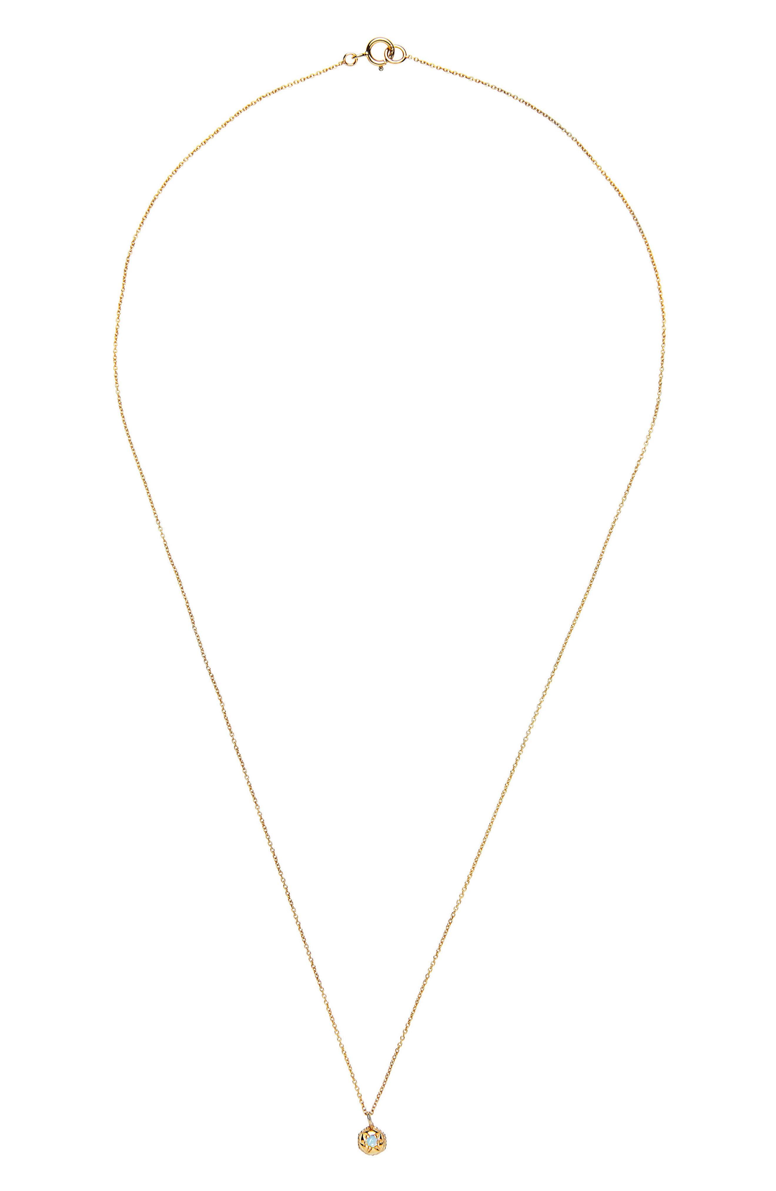 Mystic Opal Pendant Necklace,                             Alternate thumbnail 2, color,                             YELLOW GOLD/ OPAL