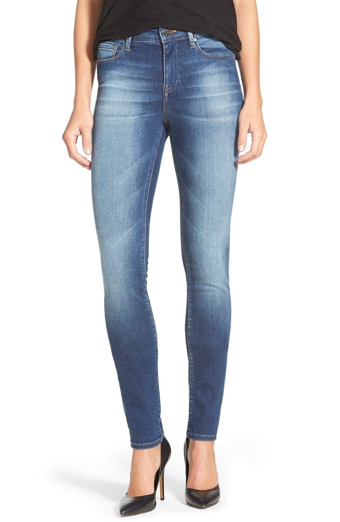 'Alissa' Skinny Jeans, Main, color, 401
