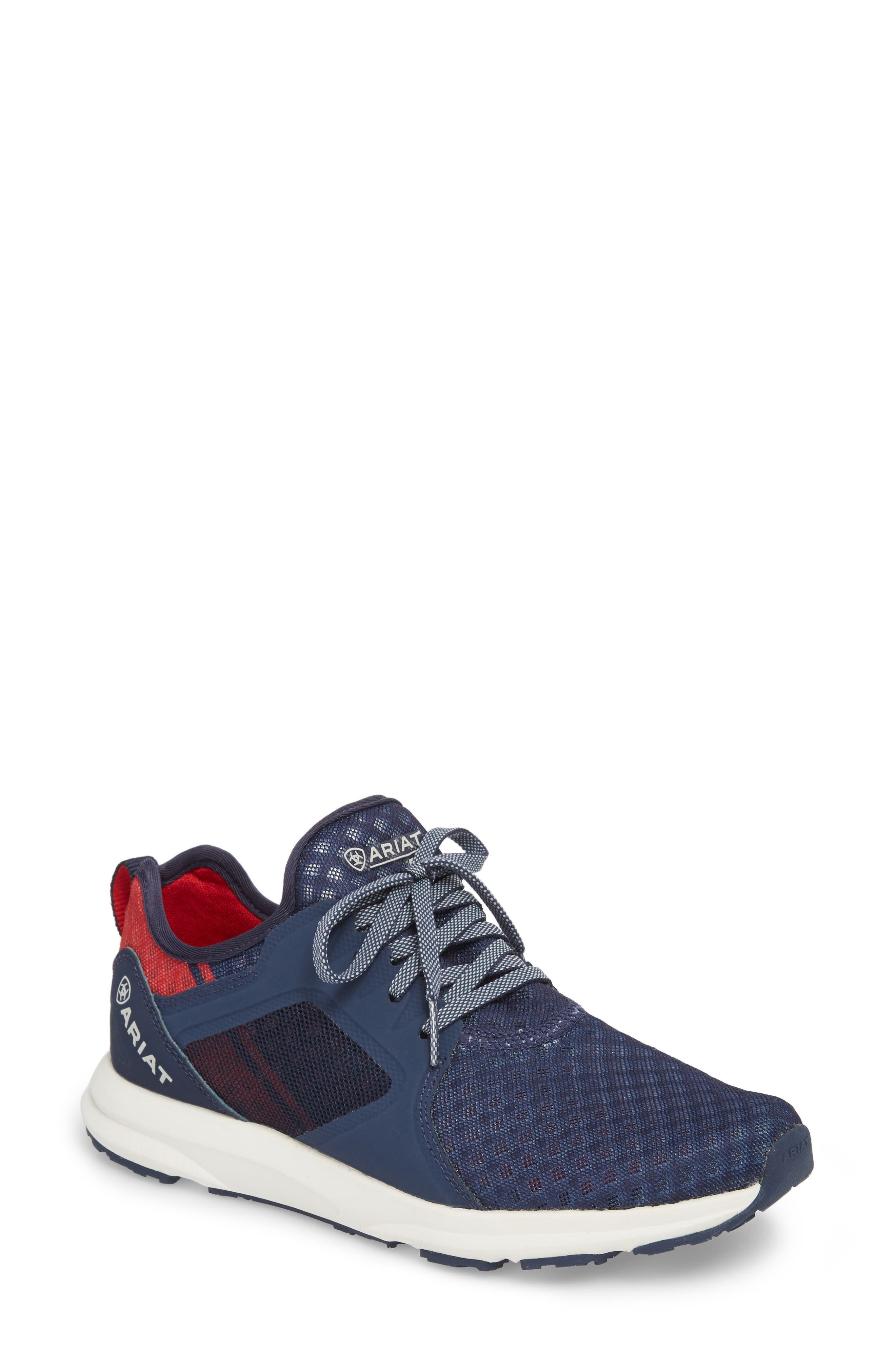 Fuse Print Sneaker,                         Main,                         color, TEAM NAVY FABRIC