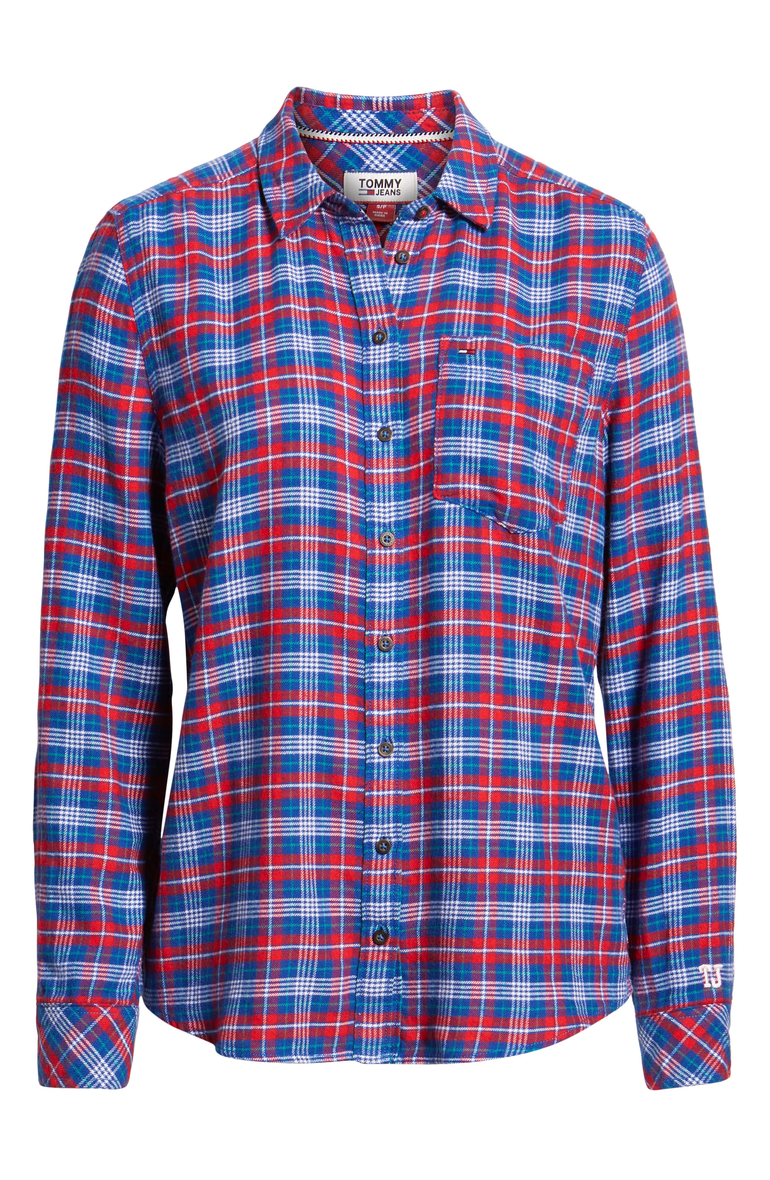 Multicolor Check Shirt,                             Alternate thumbnail 6, color,                             MULTI COLOR CHECK