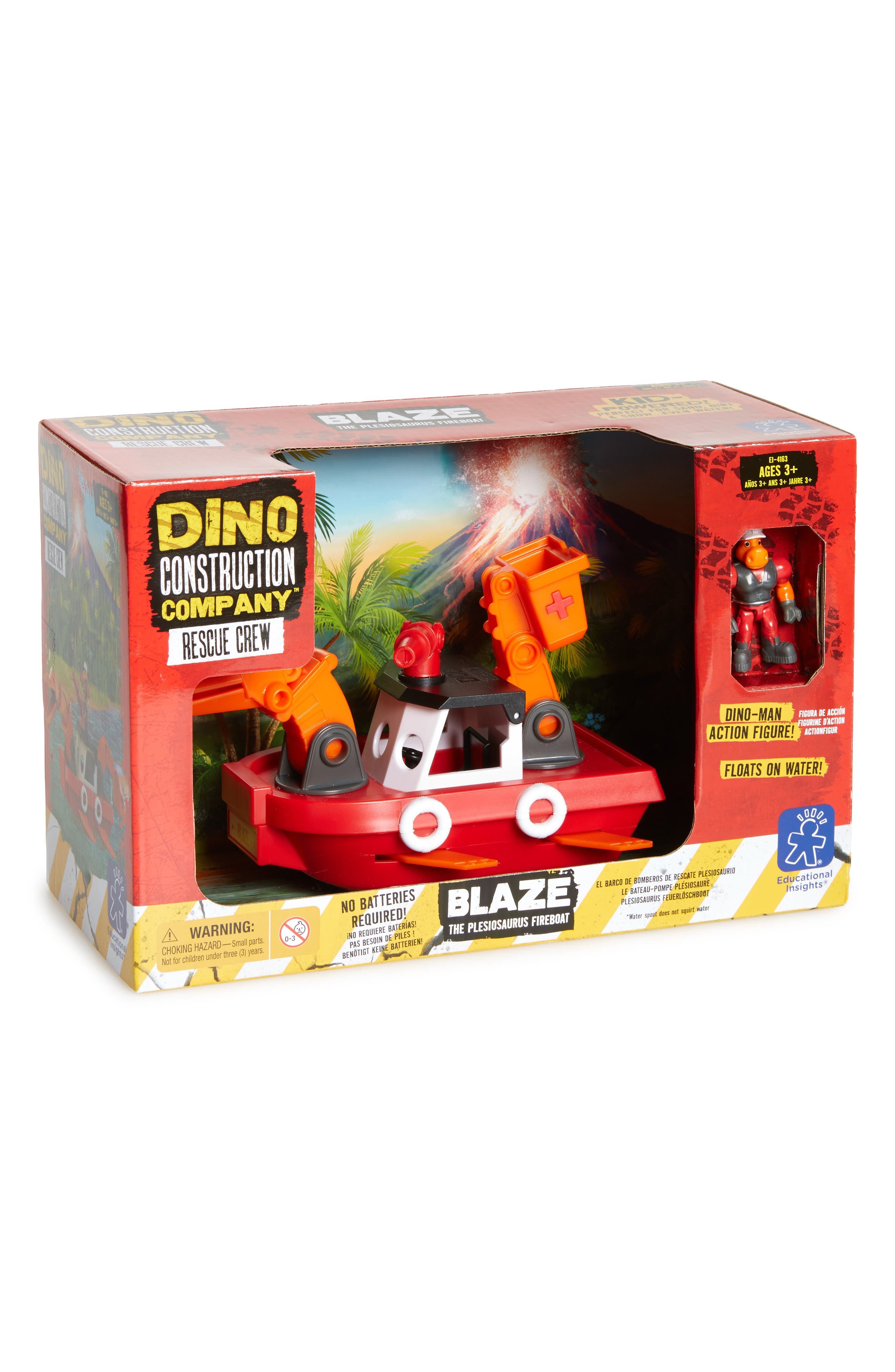 EDUCATIONAL INSIGHTS,                             Dino Construction Company<sup>™</sup> Rescue Crew Blaze the Plesiosaurus Fireboat,                             Main thumbnail 1, color,                             600