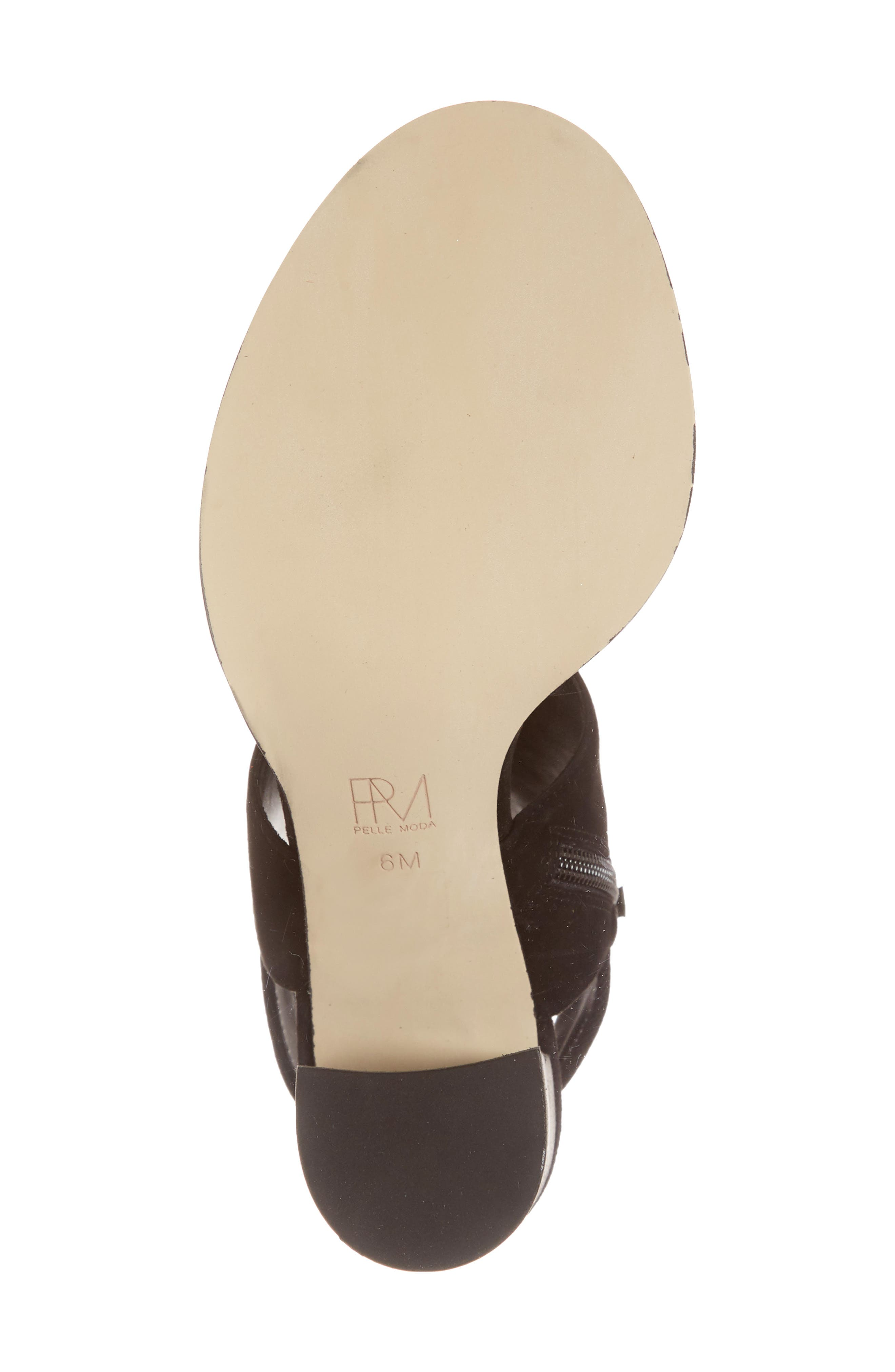 Grey Sandal,                             Alternate thumbnail 6, color,                             BLACK SUEDE