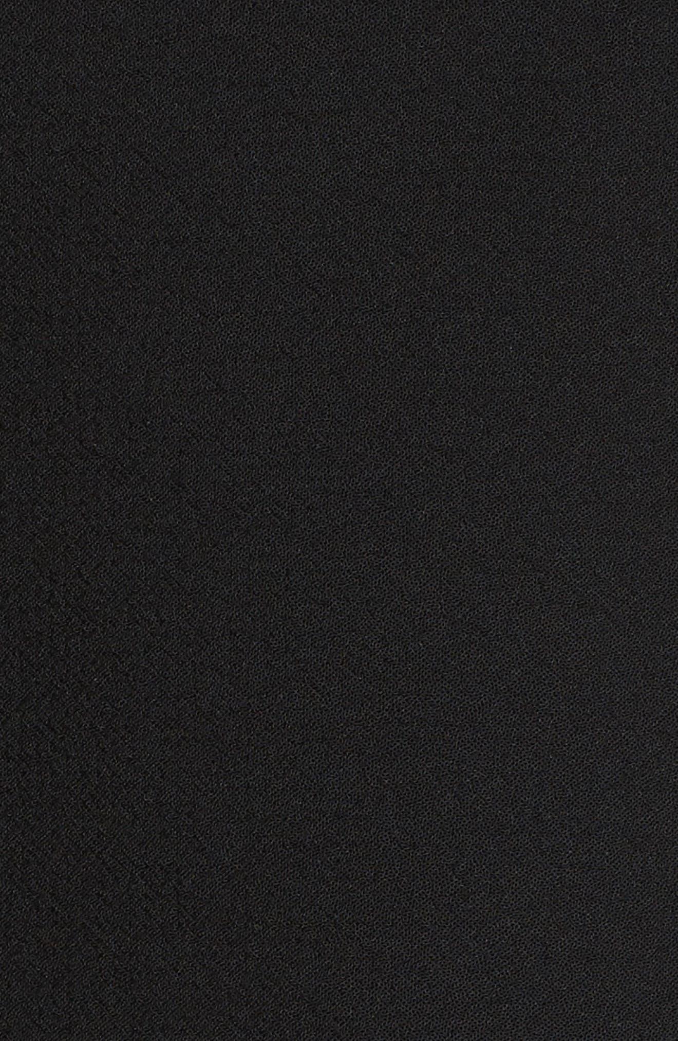 Ruffle Fit & Flare Dress,                             Alternate thumbnail 5, color,                             001