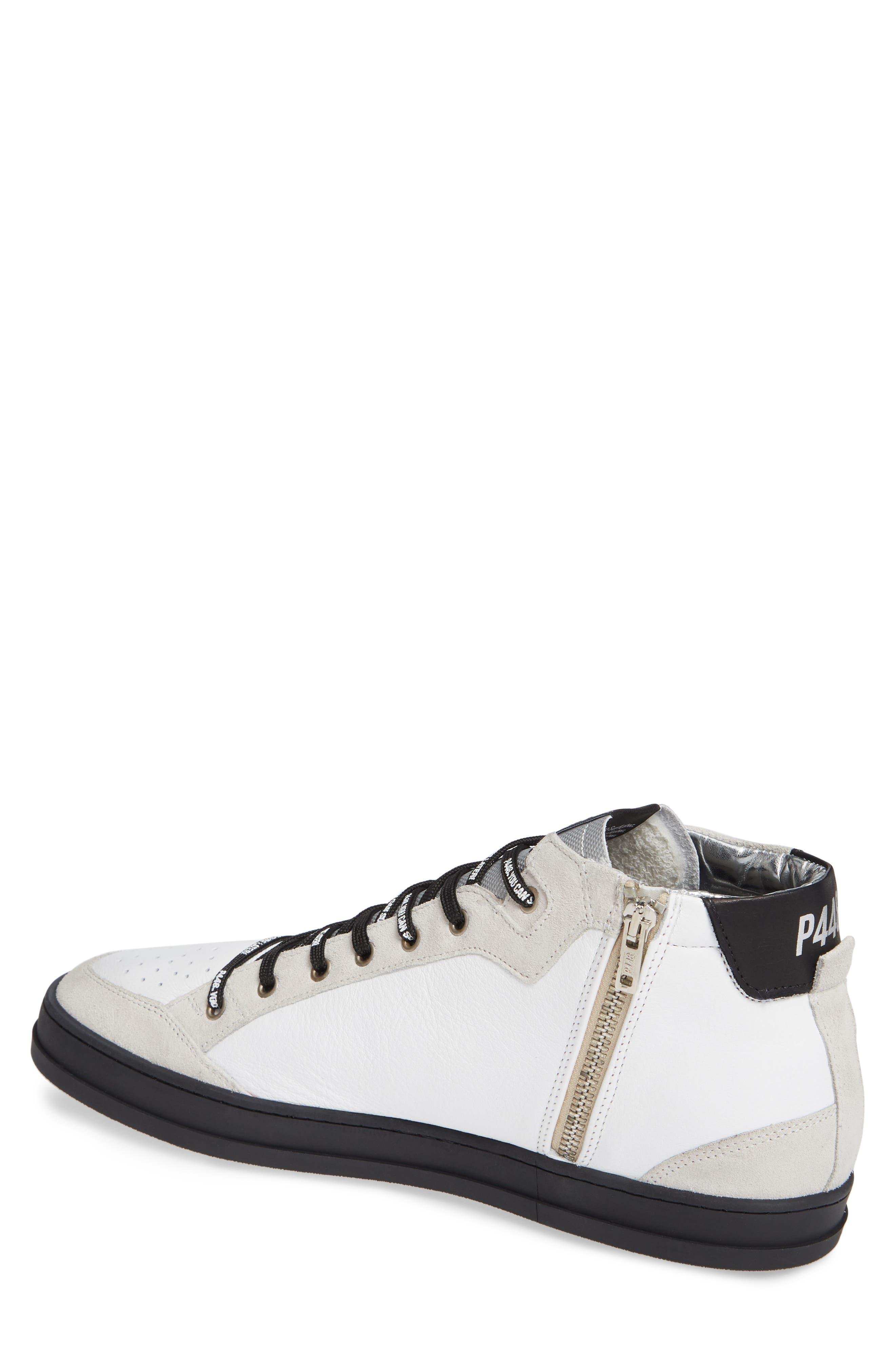 A8Love Mid Top Sneaker,                             Alternate thumbnail 2, color,                             WHITE/ BLACK