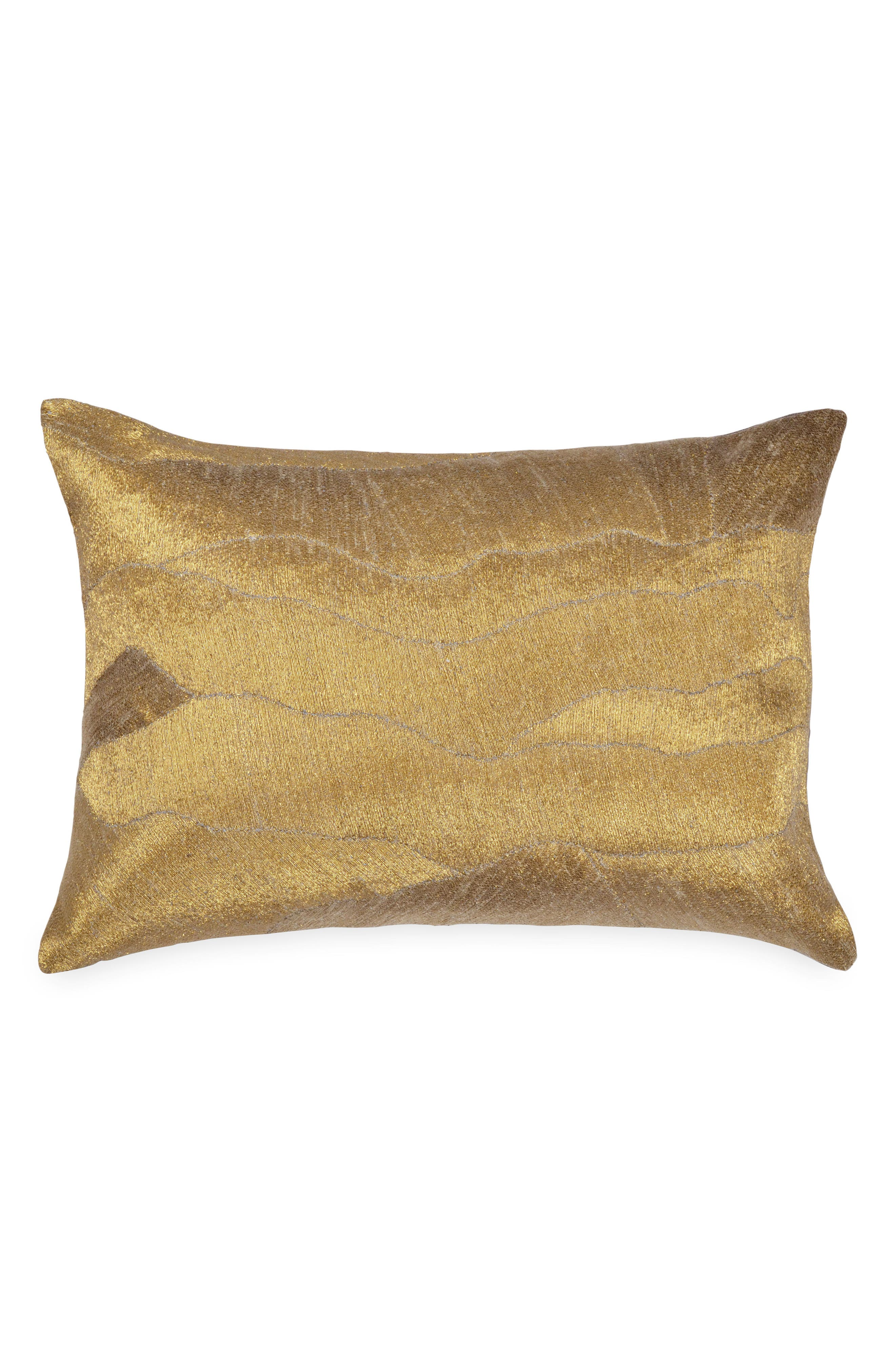 After The Storm Accent Pillow,                             Main thumbnail 1, color,                             GOLD