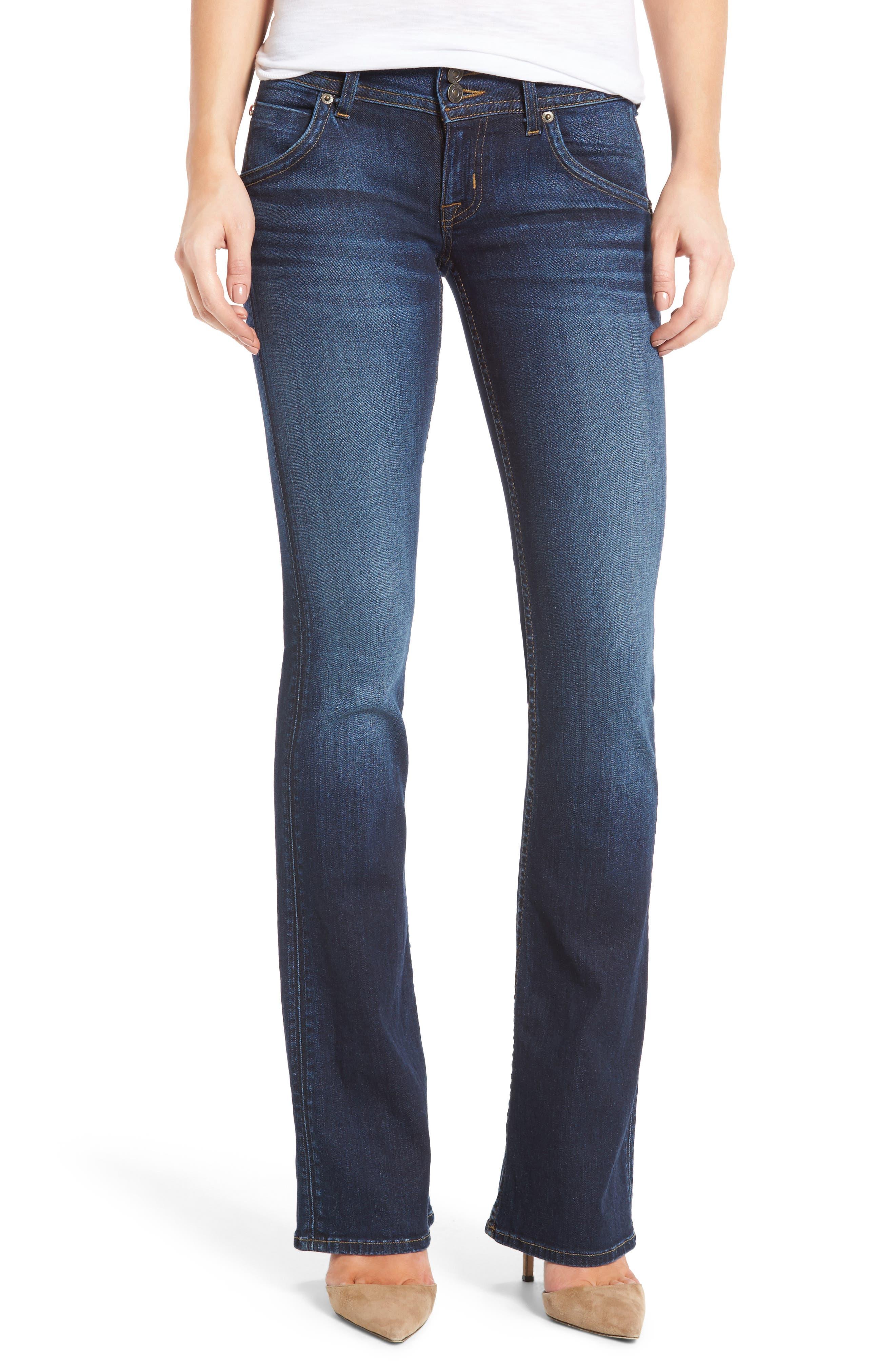 Signature Petite Bootcut Jeans,                             Main thumbnail 1, color,                             PATROL UNIT