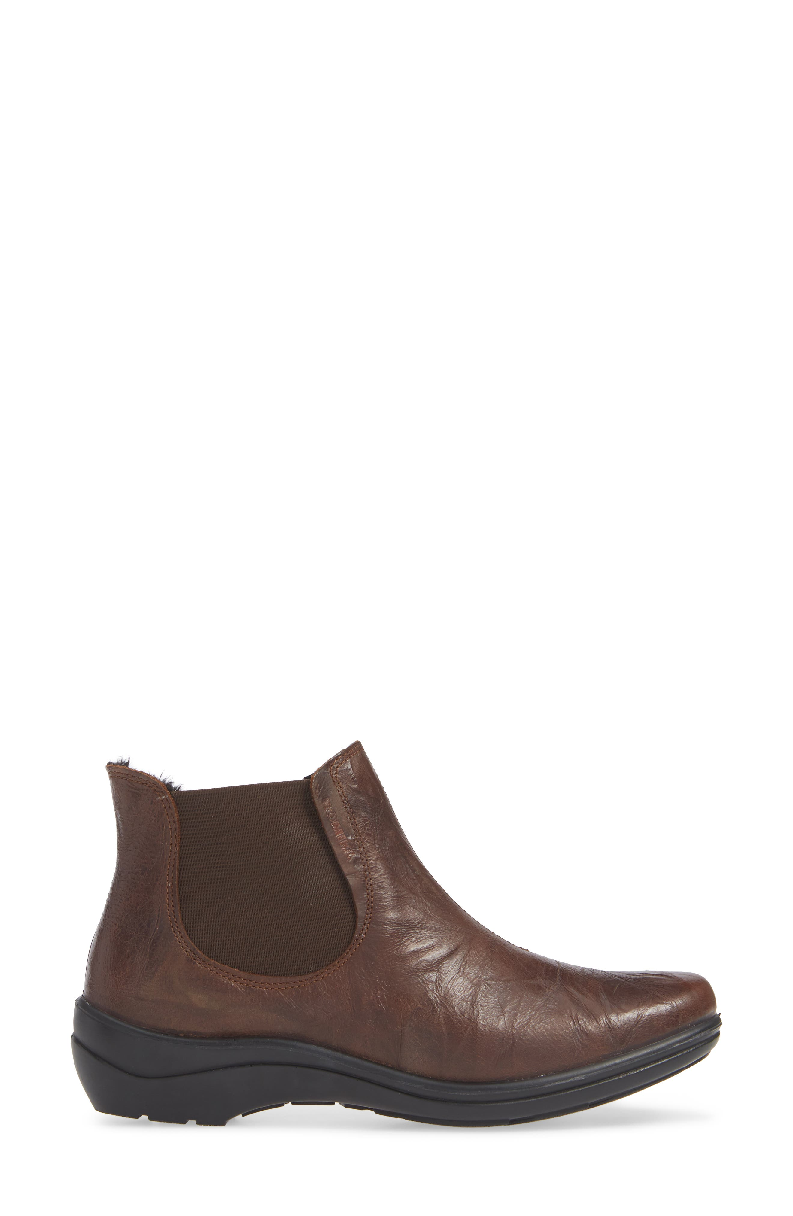 Cassie 46 Chelsea Bootie,                             Alternate thumbnail 3, color,                             BROWN LEATHER