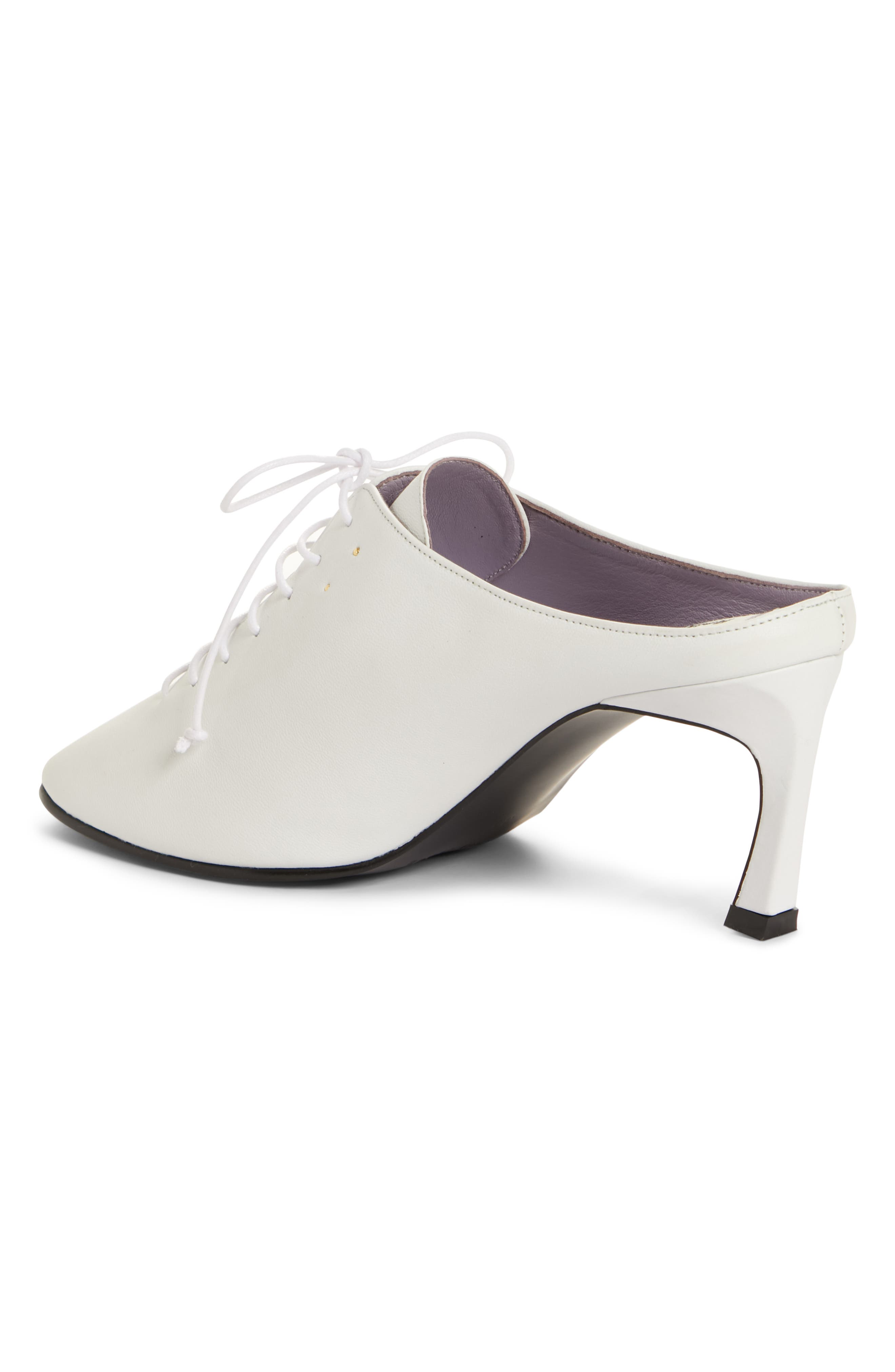 Wide Lace-Up Mule,                             Alternate thumbnail 2, color,                             WHITE