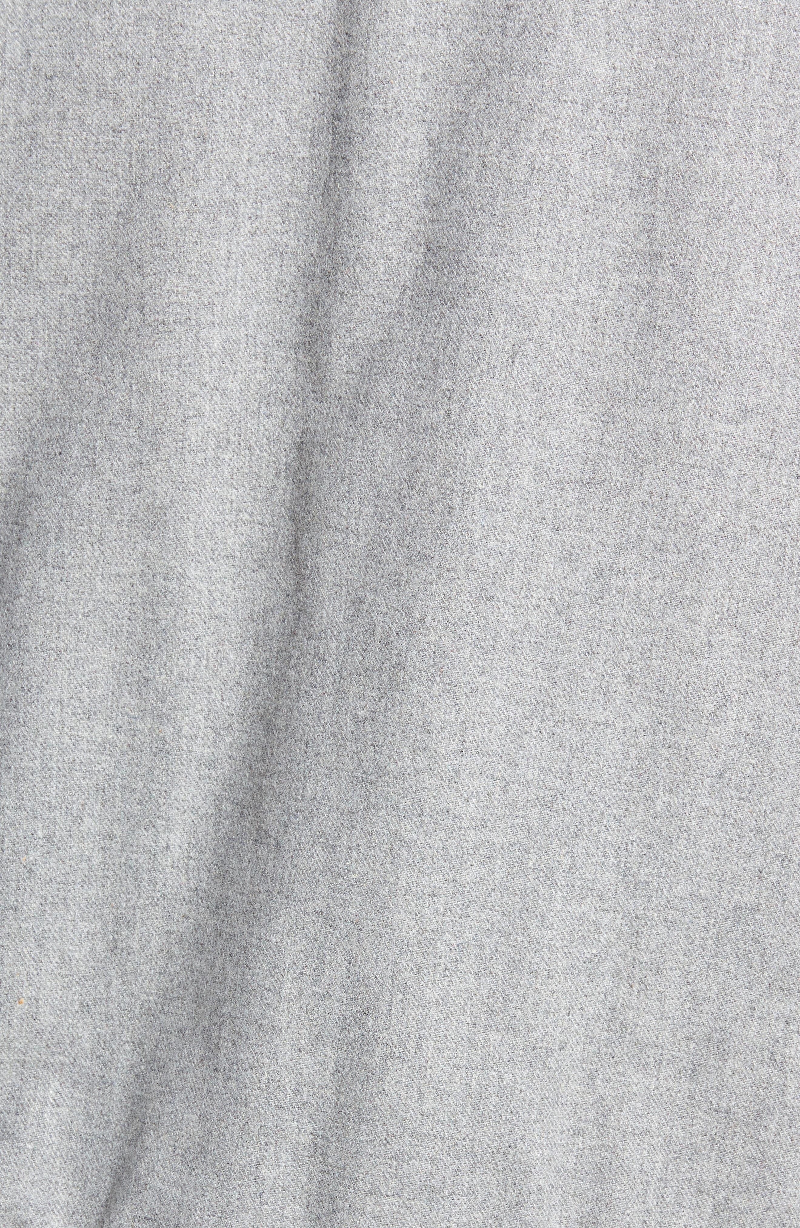 Button Front Bomber Jacket,                             Alternate thumbnail 7, color,                             GREY TORNADO HEATHER