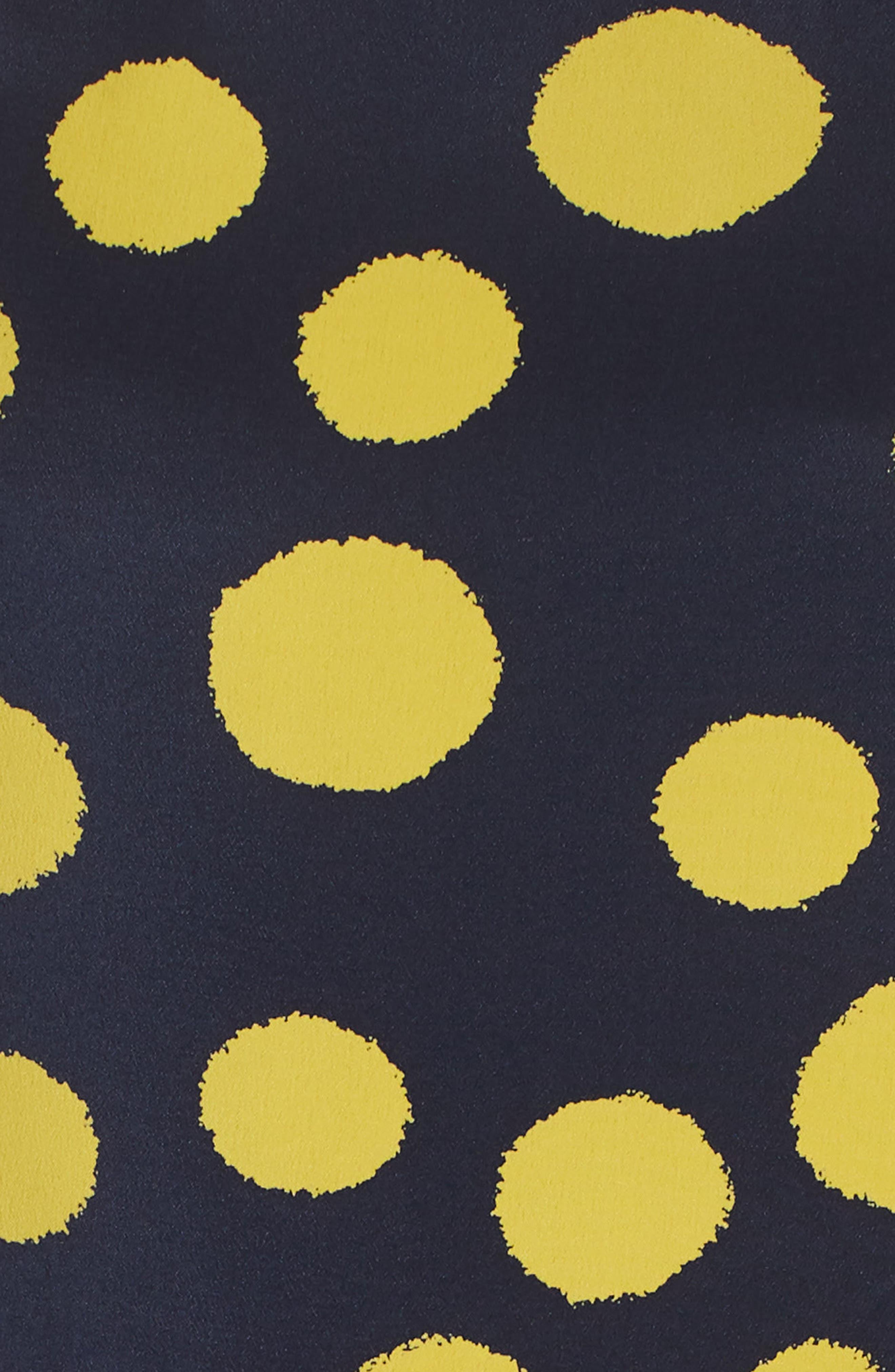 J.CREW,                             Polka Dot One-Shoulder Silk Dress,                             Alternate thumbnail 6, color,                             401