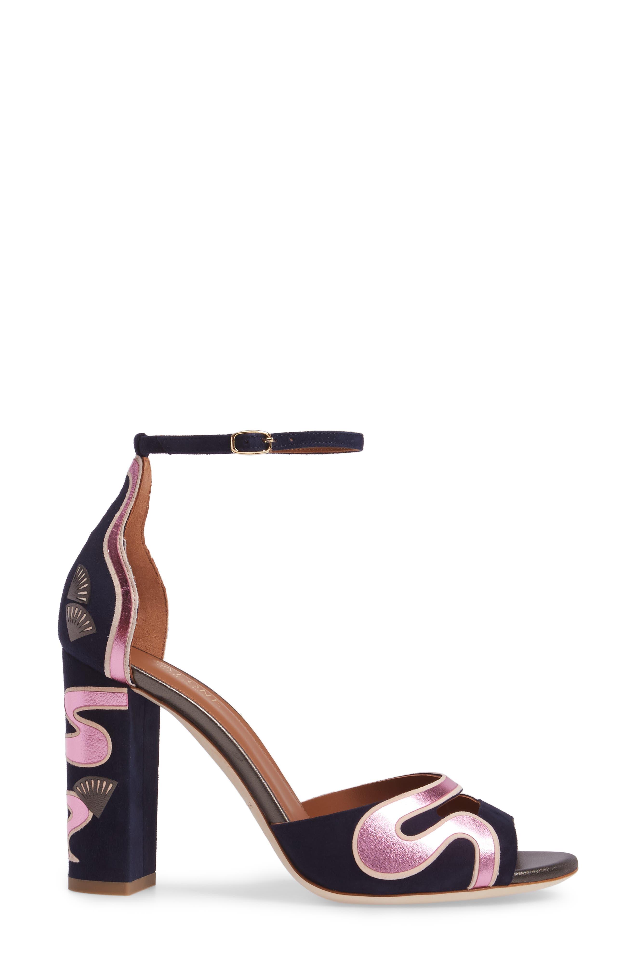 Nina Chunky Heel Sandal,                             Alternate thumbnail 3, color,                             400