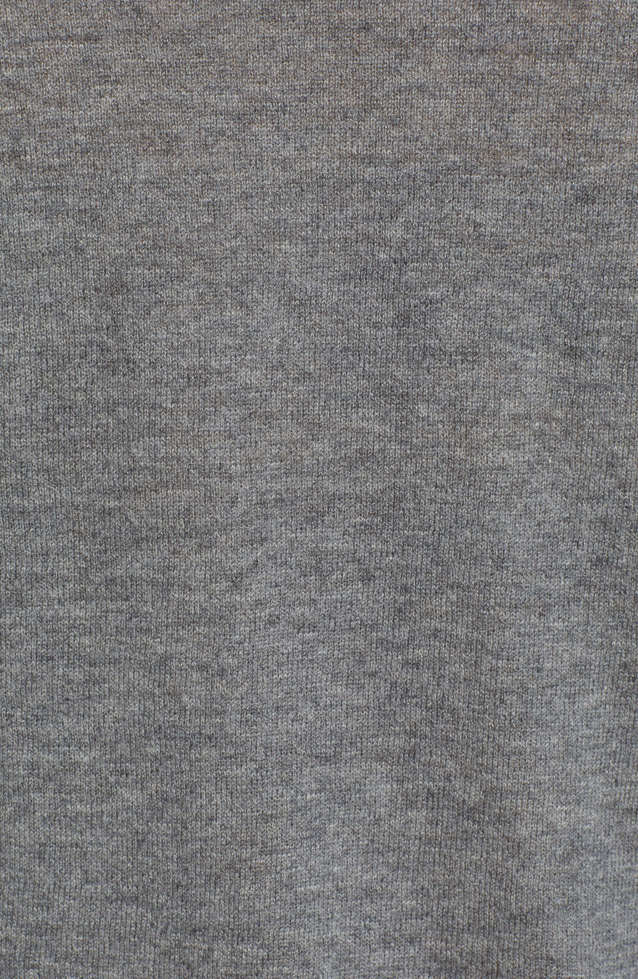Miss Bis Skull Cashmere Tee,                             Alternate thumbnail 5, color,                             GRIS