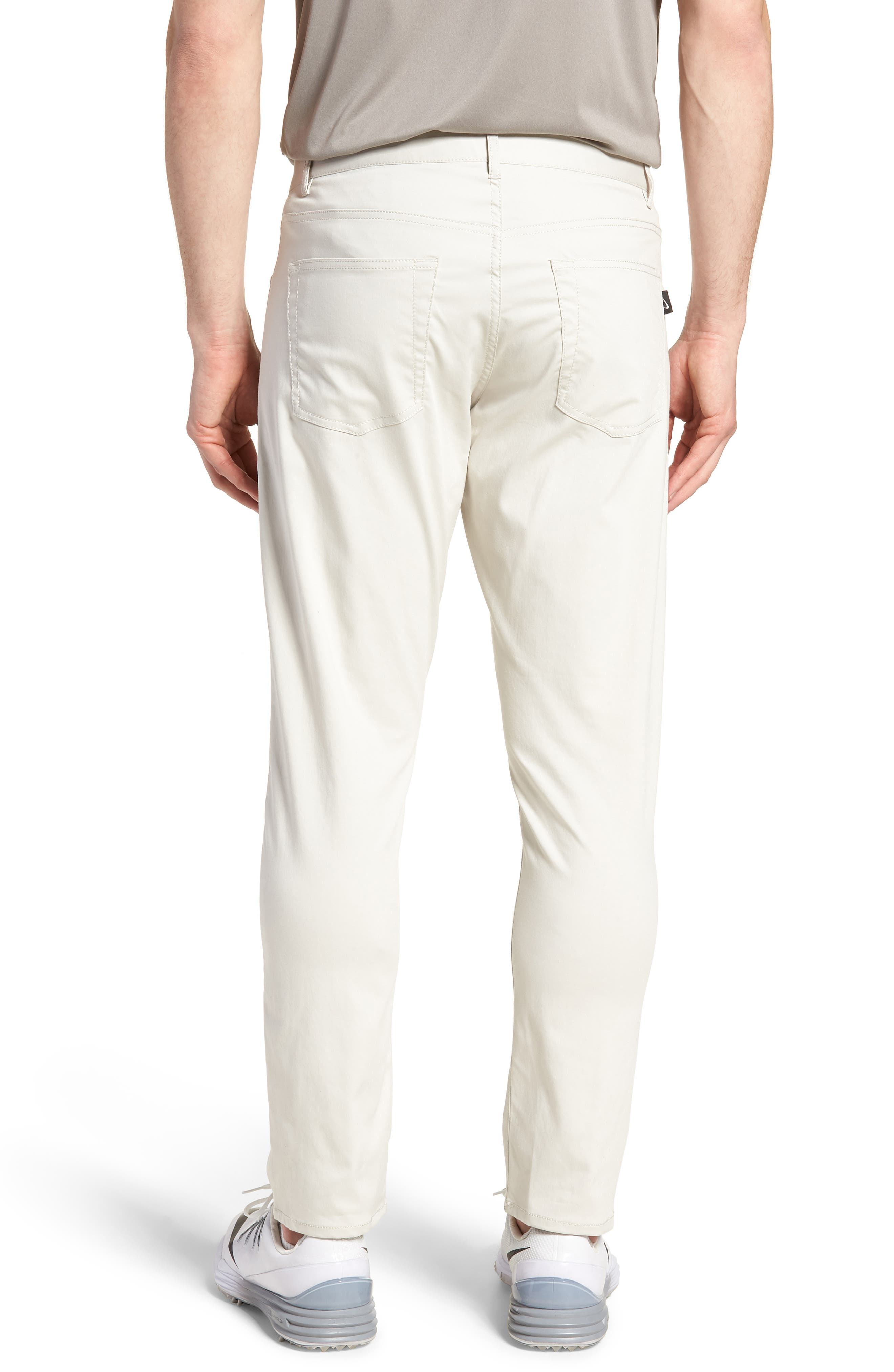 Dry Flex Slim Fit Golf Pants,                             Alternate thumbnail 2, color,                             LIGHT BONE/ WHITE