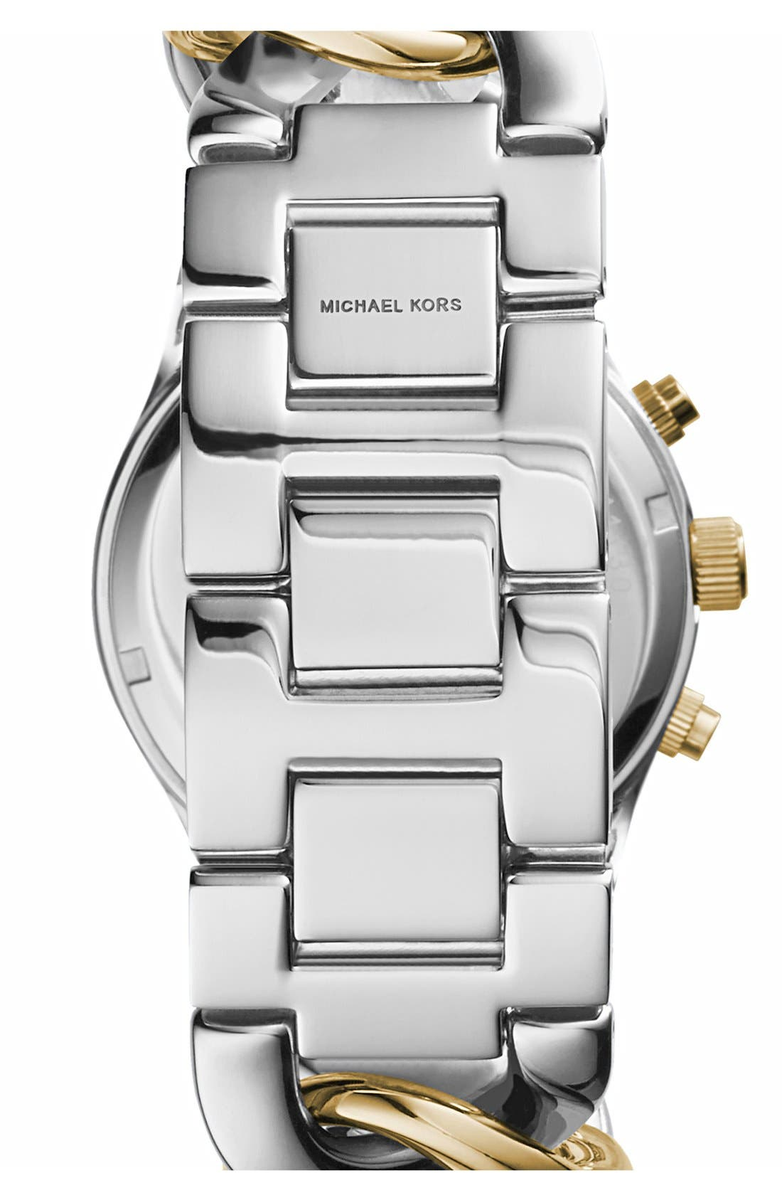 Michael Kors Chain Bracelet Chronograph Watch, 38mm,                             Alternate thumbnail 6, color,