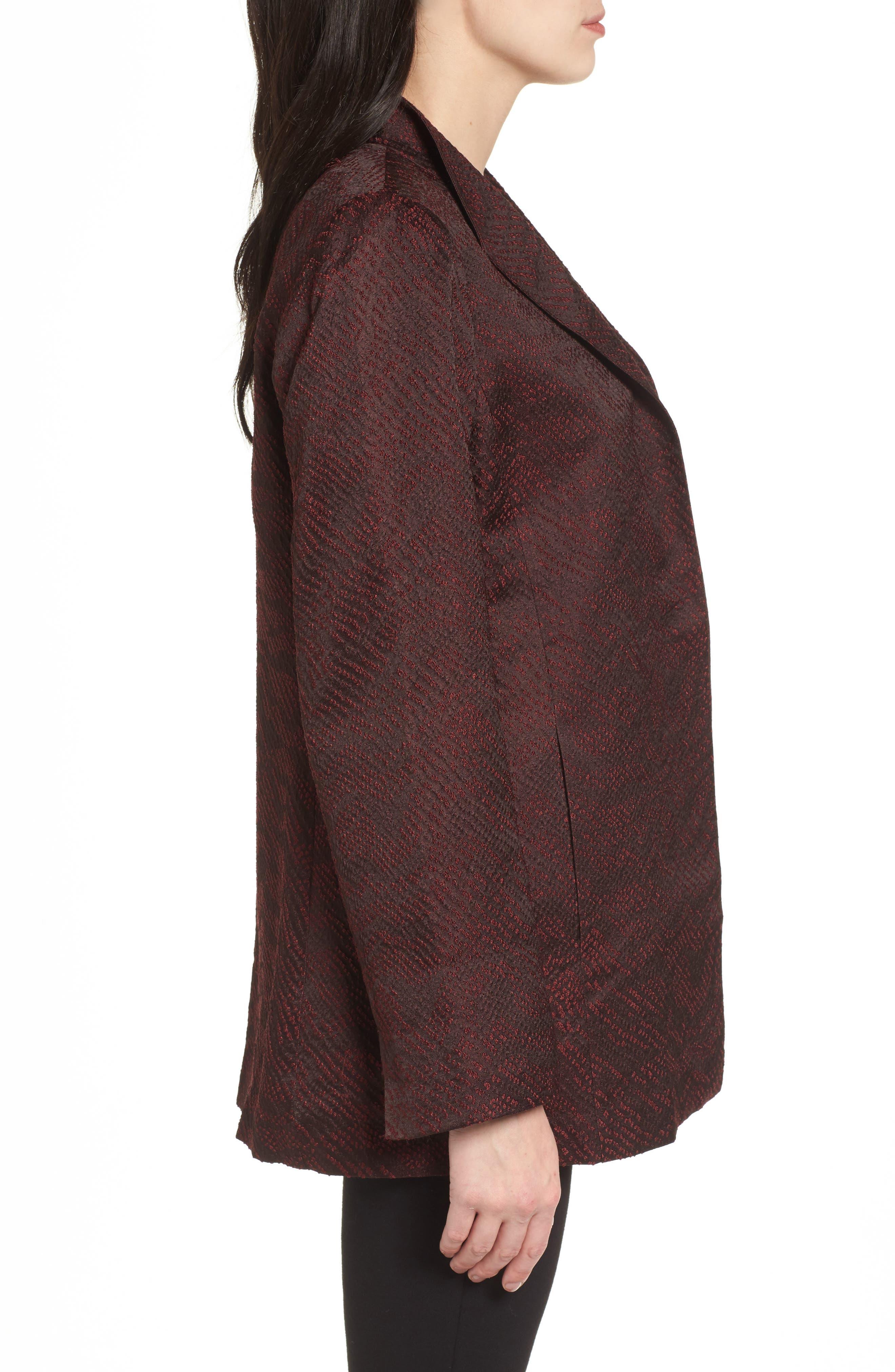 Silk Blend Jacquard Jacket,                             Alternate thumbnail 6, color,