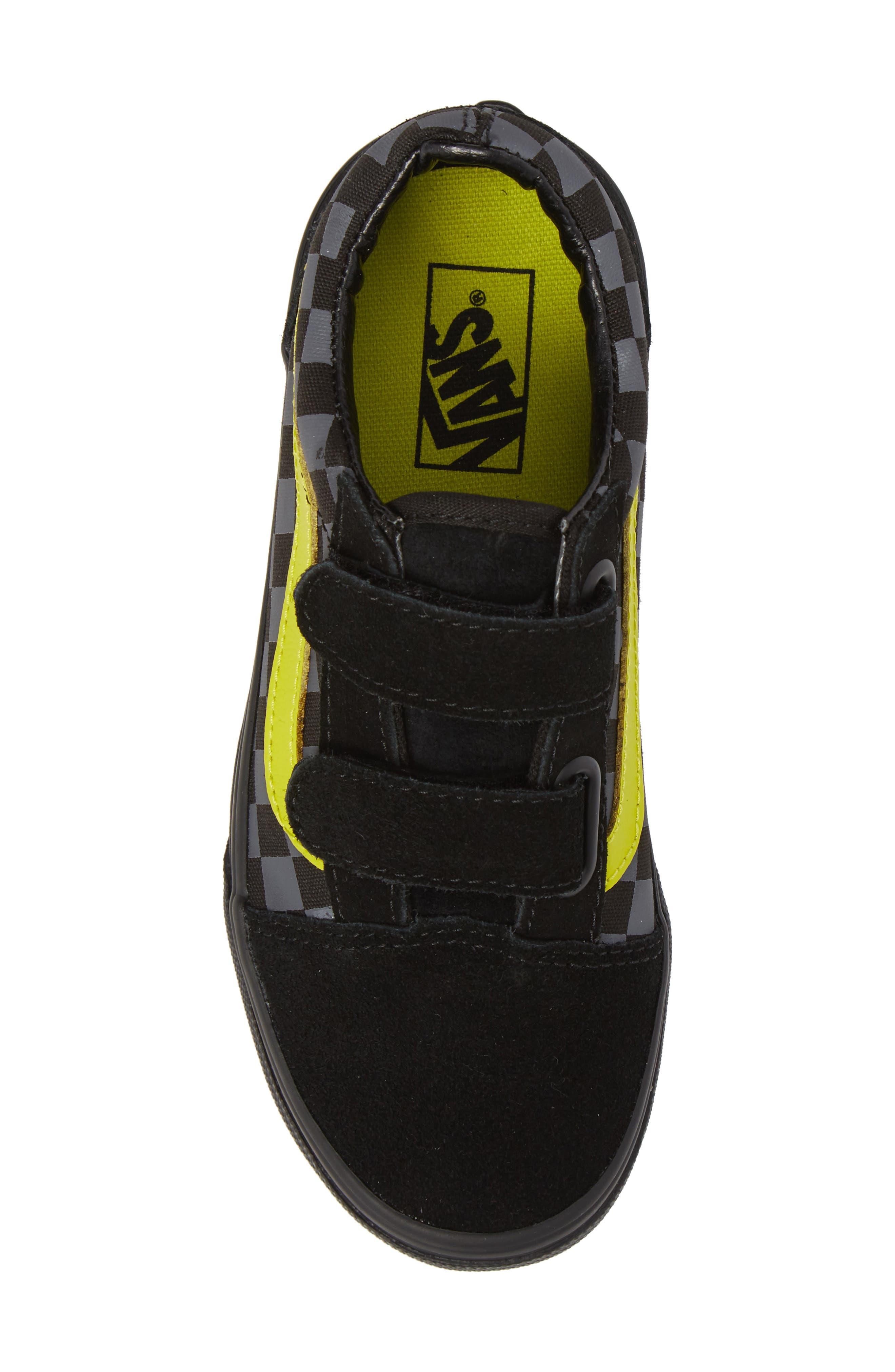 Reflective Checkerboard Old Skool V Sneaker,                             Alternate thumbnail 5, color,