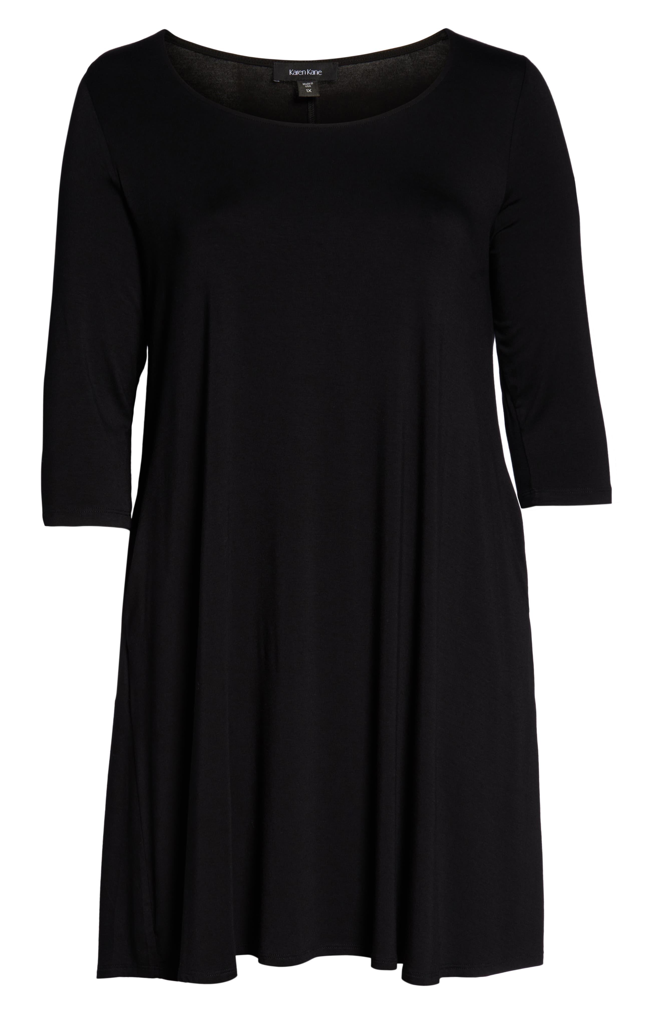 Chloe A-Line Dress,                             Alternate thumbnail 3, color,                             BLACK