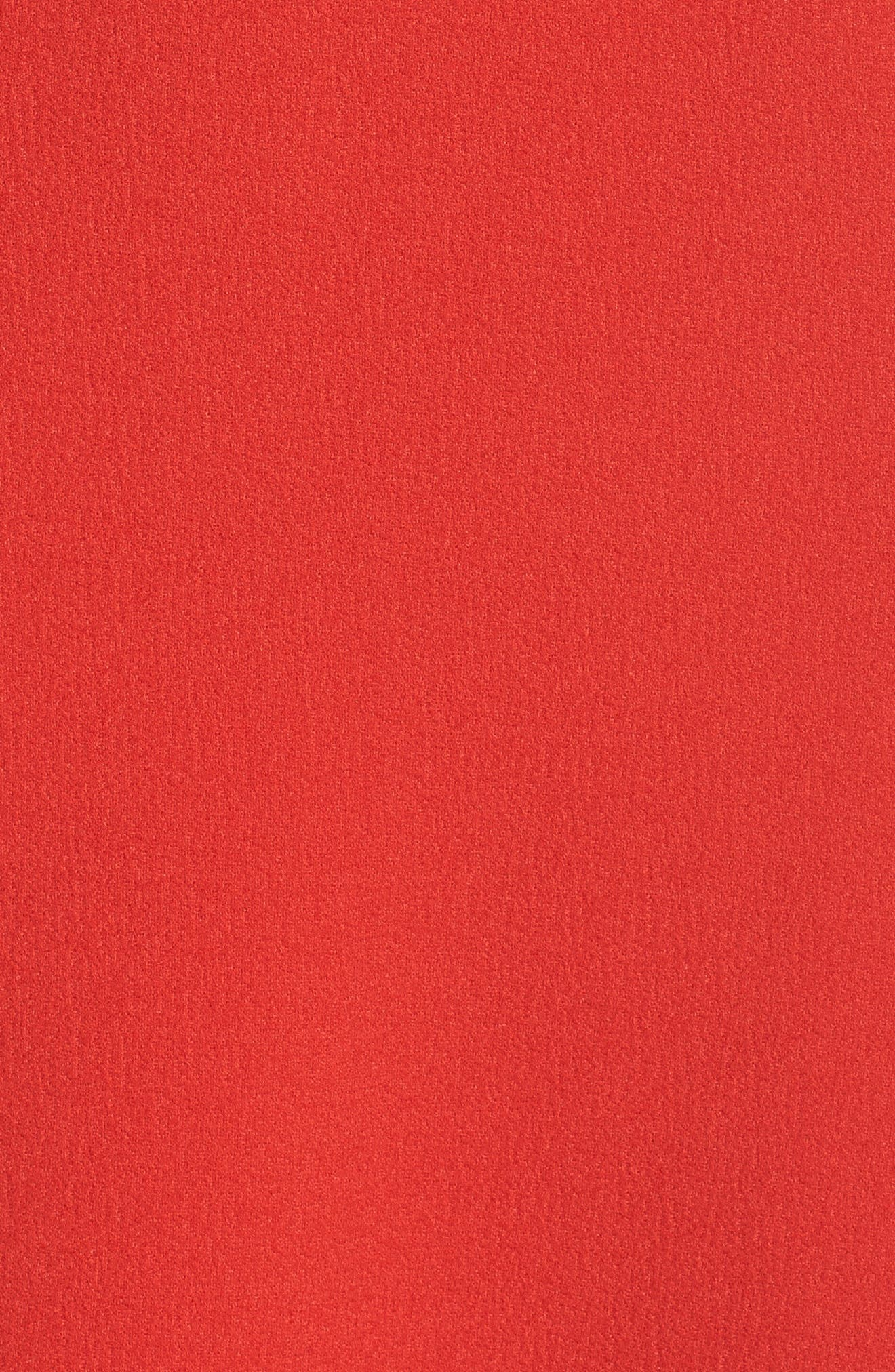 Entice Strapless Midi Dress,                             Alternate thumbnail 5, color,