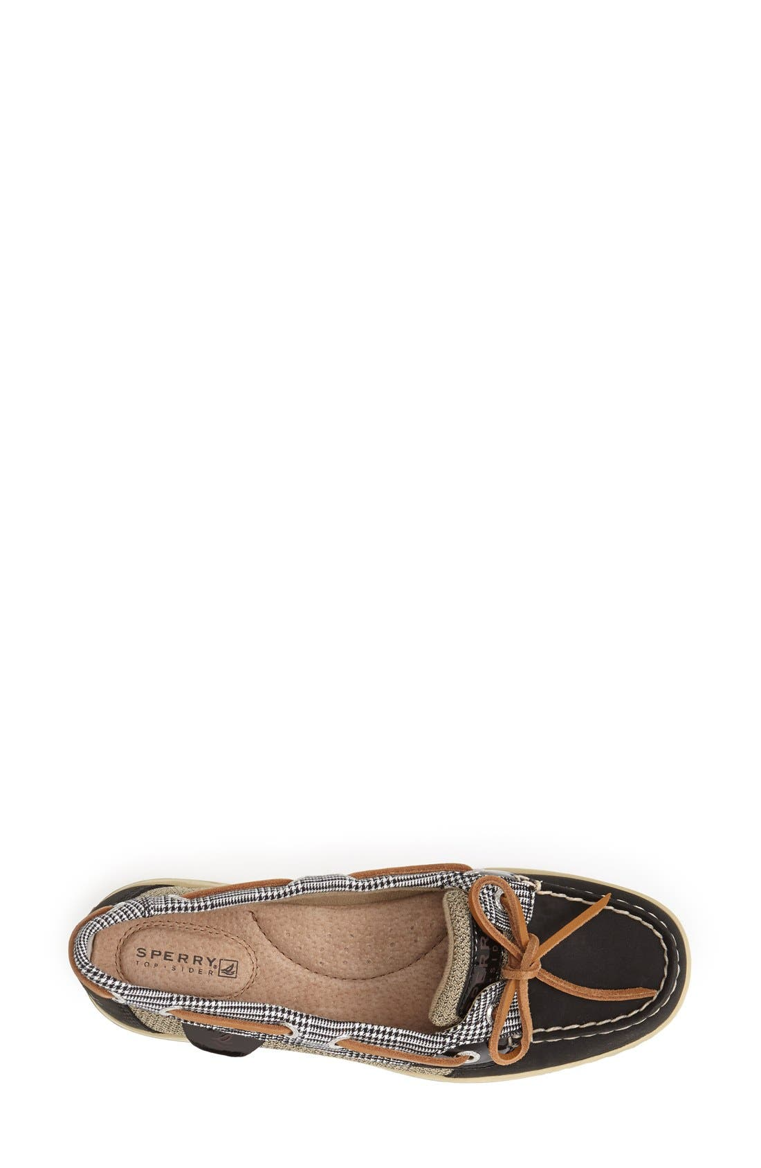 Top-Sider<sup>®</sup> 'Angelfish' Boat Shoe,                             Alternate thumbnail 4, color,                             001