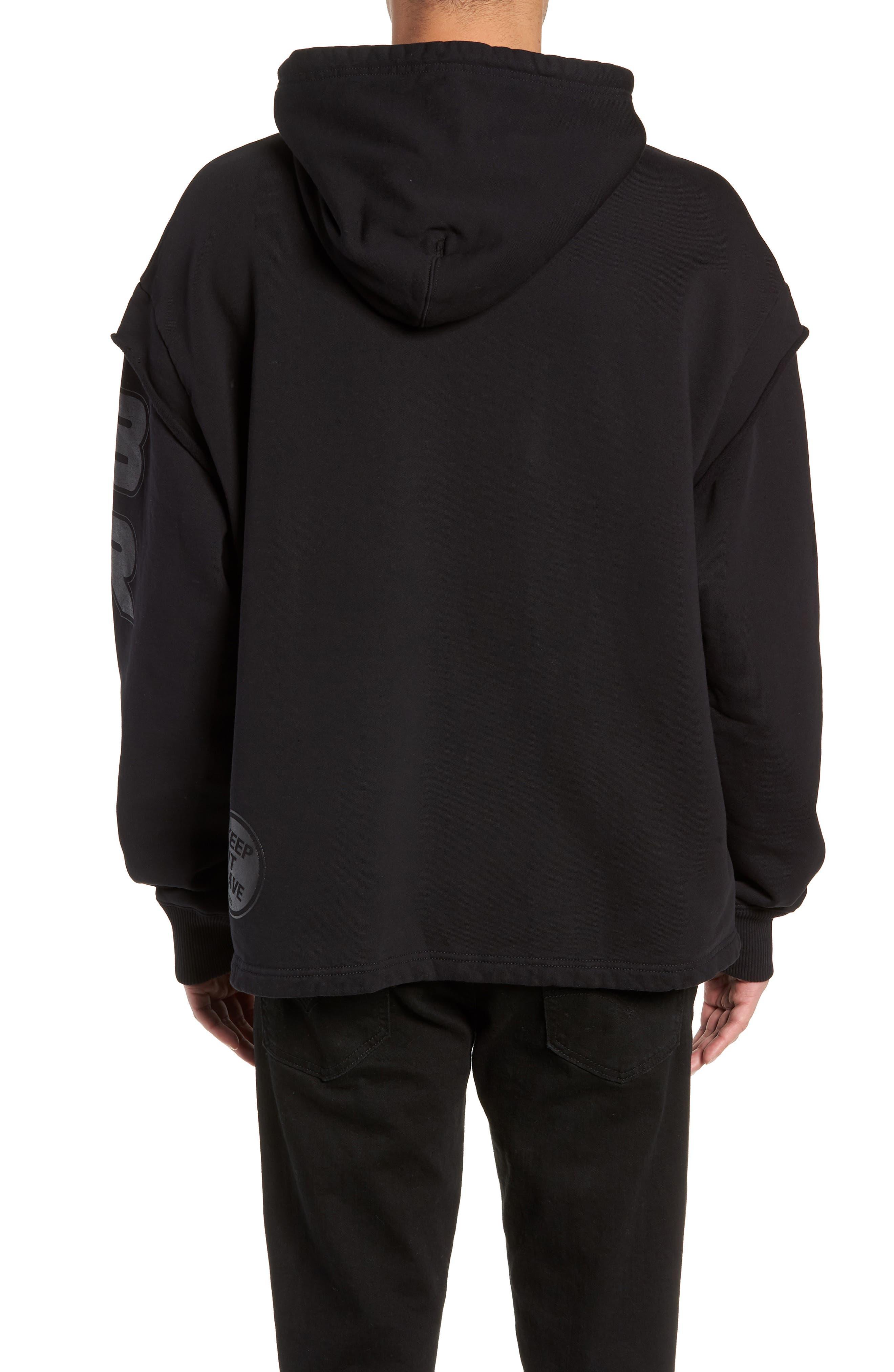 S-DRIVE-LS-XA Embroidered Hooded Sweatshirt,                             Alternate thumbnail 2, color,                             BLACK