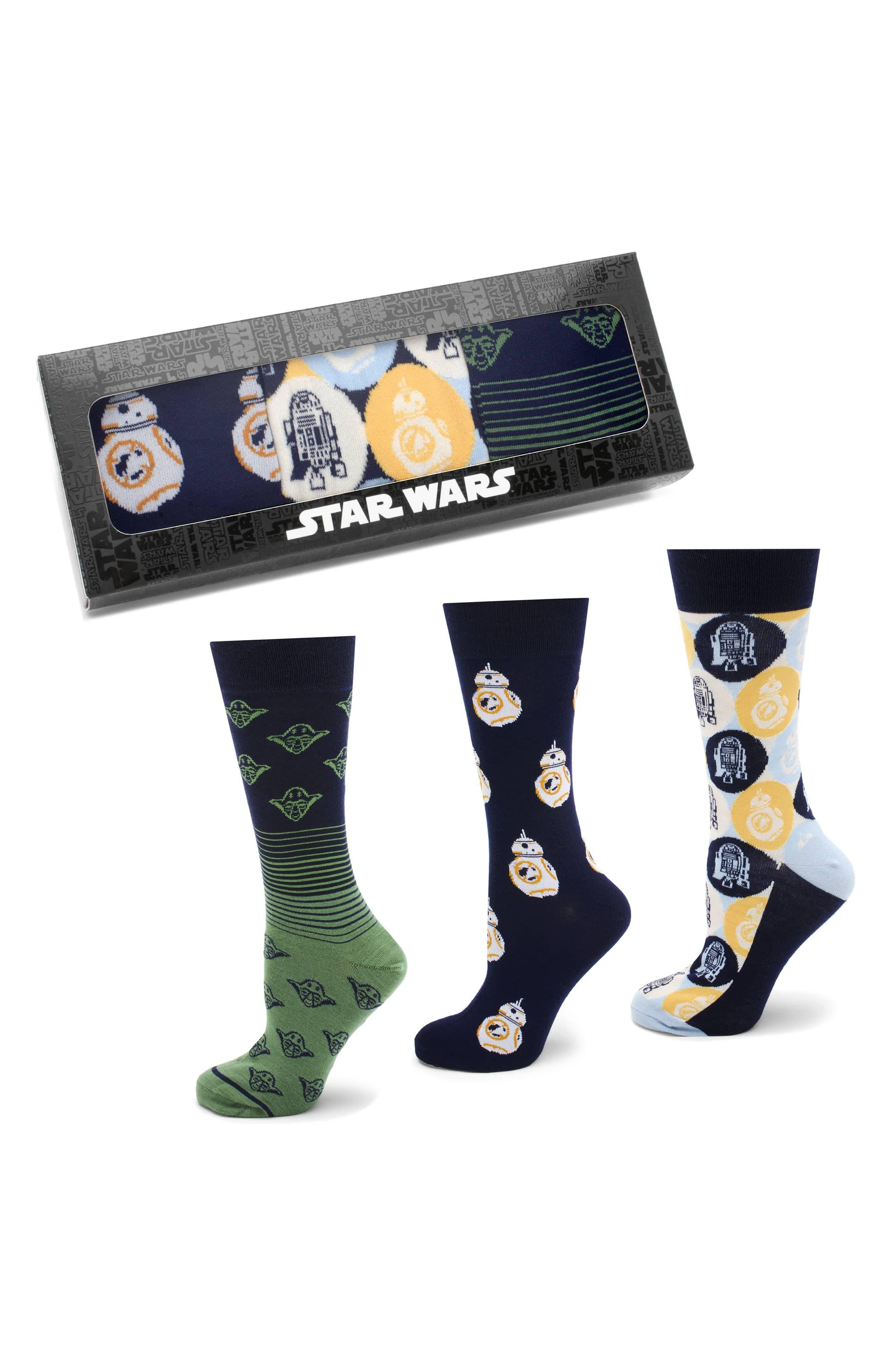 'Star Wars' Rebel Icons 3-Pack Socks,                         Main,                         color, BLUE