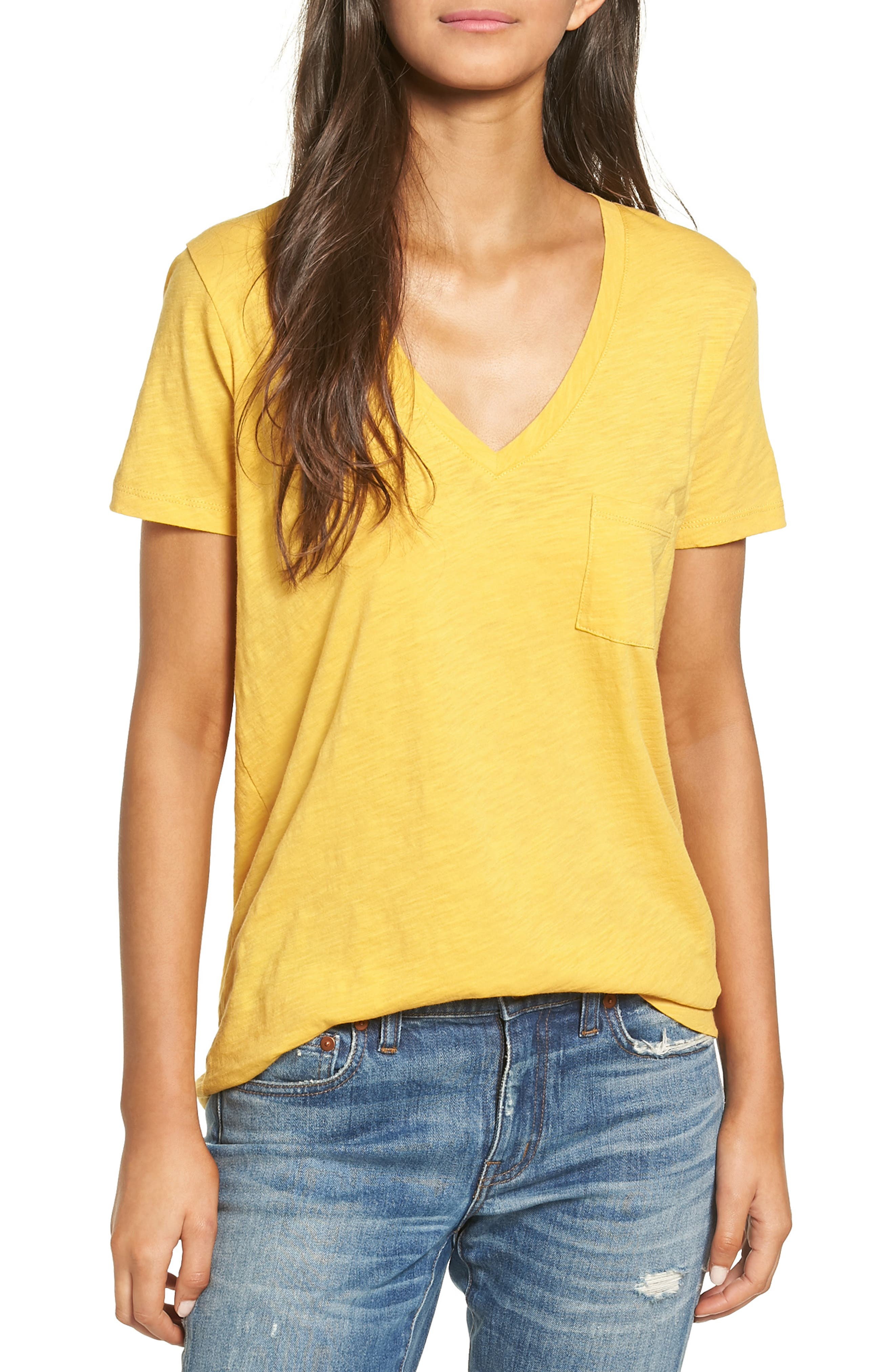 Whisper Cotton V-Neck Pocket Tee,                             Main thumbnail 38, color,
