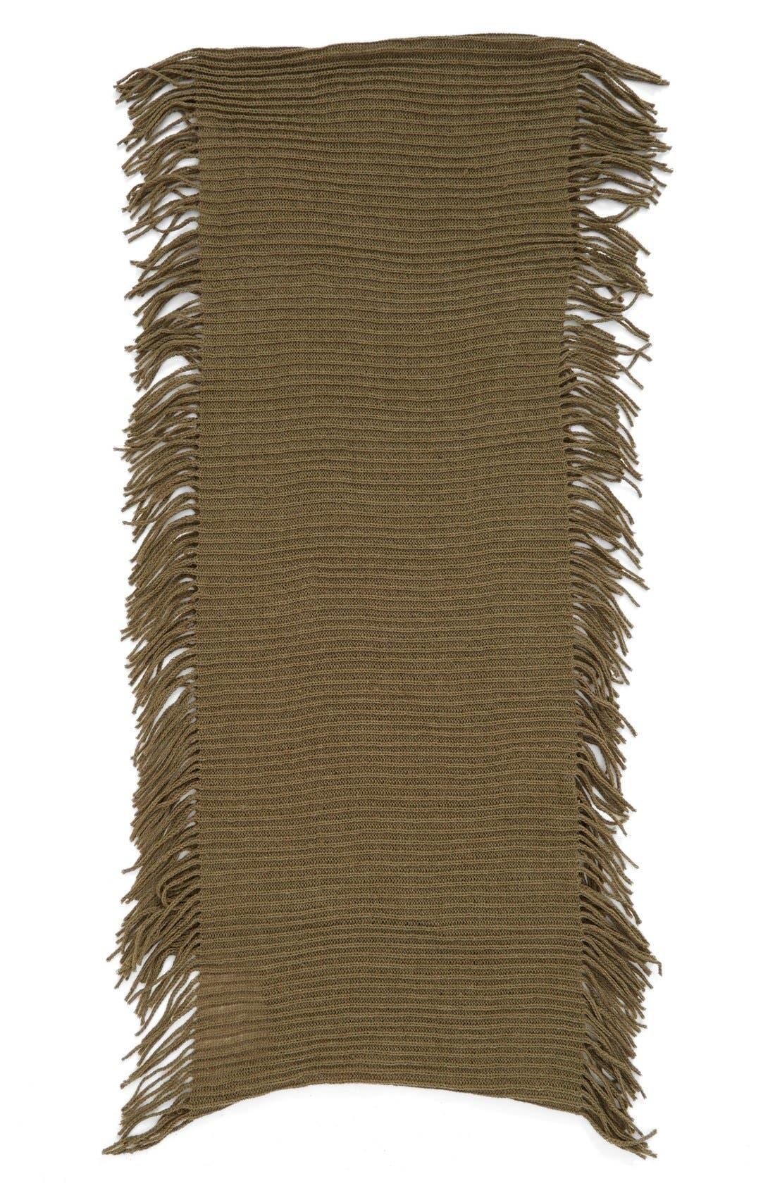 Rib Knit Fringe Infinity Scarf,                             Alternate thumbnail 15, color,